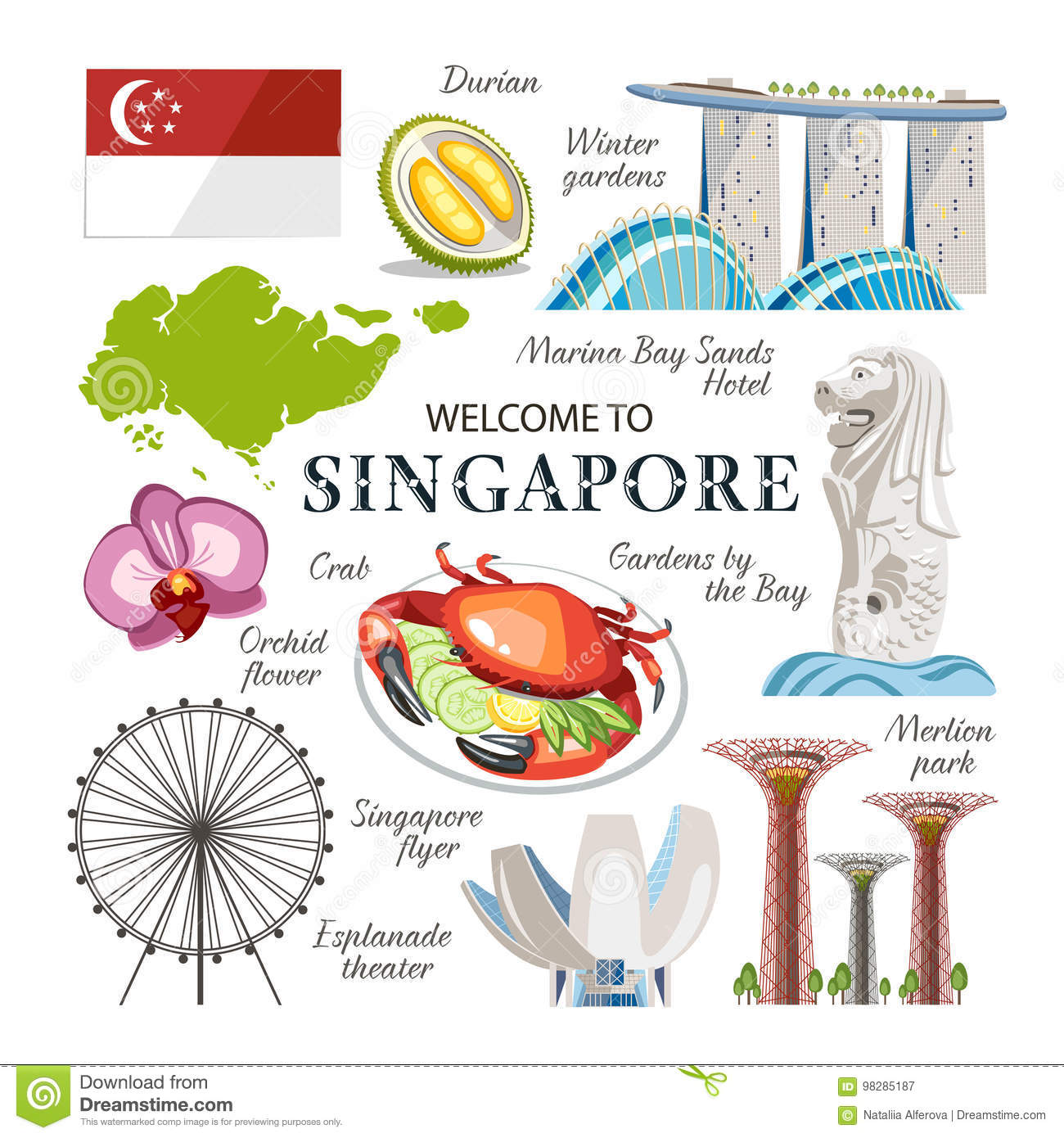 Singapore Cartoons Illustrations Amp Vector Stock Images