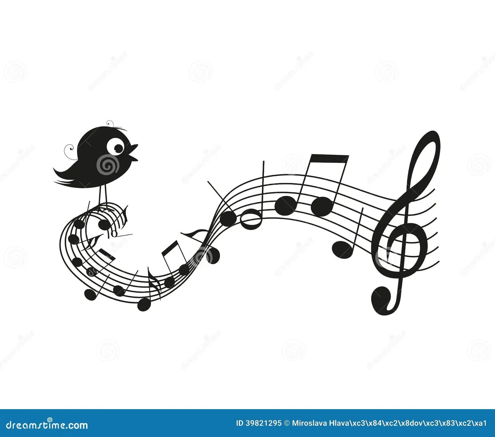 Singing Bird Stock Vector