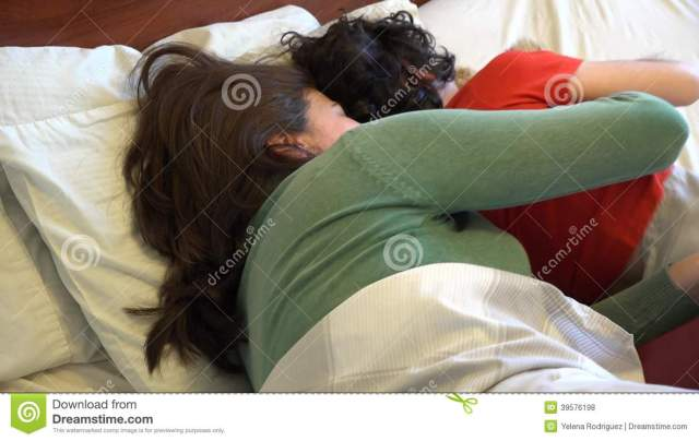 Single Mother And Son Sleeping Together Stock Footage Video Of