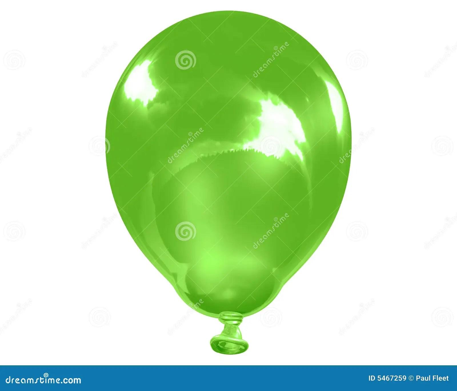 Single Reflective Green Balloon Royalty Free Stock Images