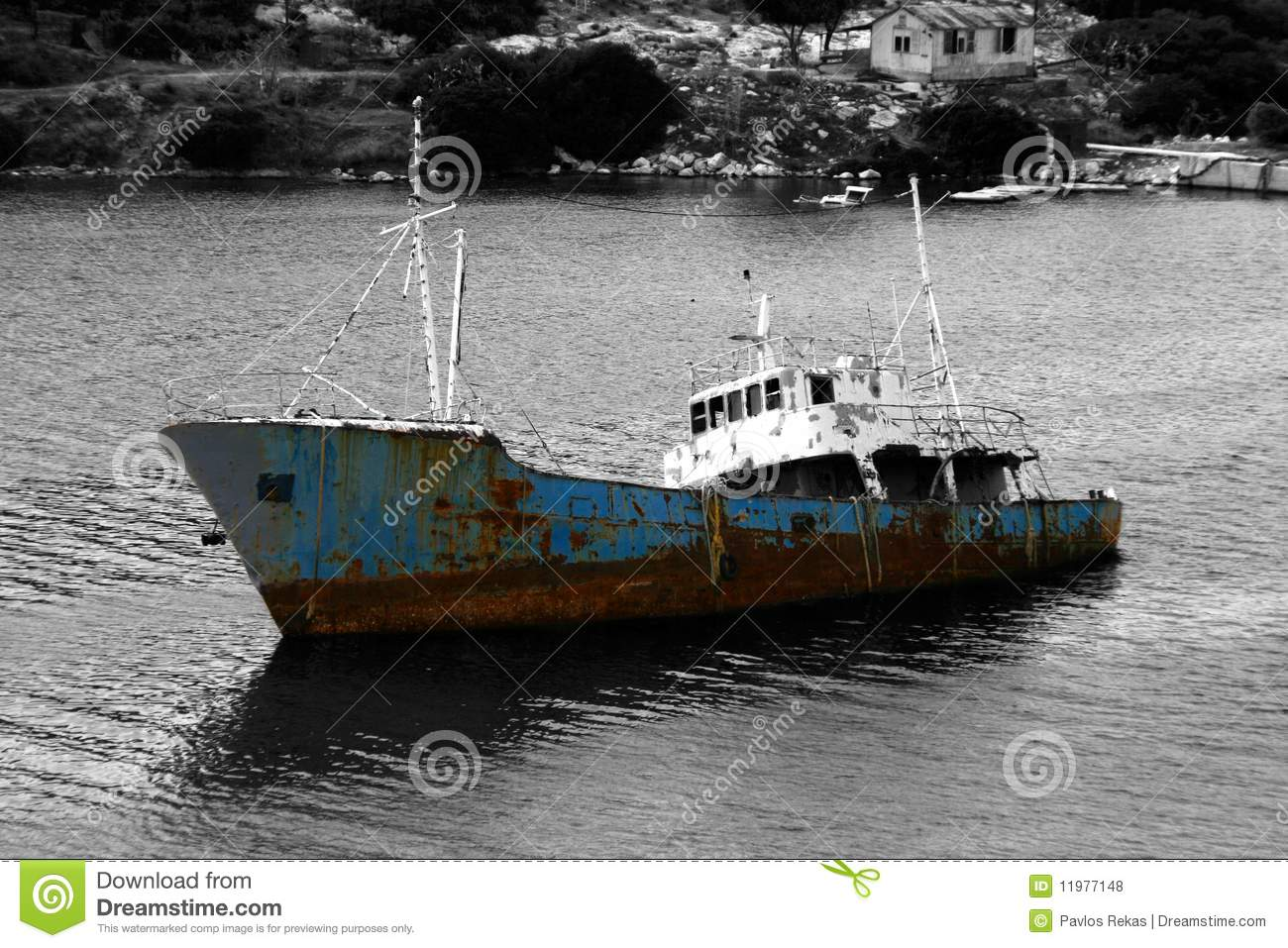 Sinking Ship Royalty Free Stock Photos