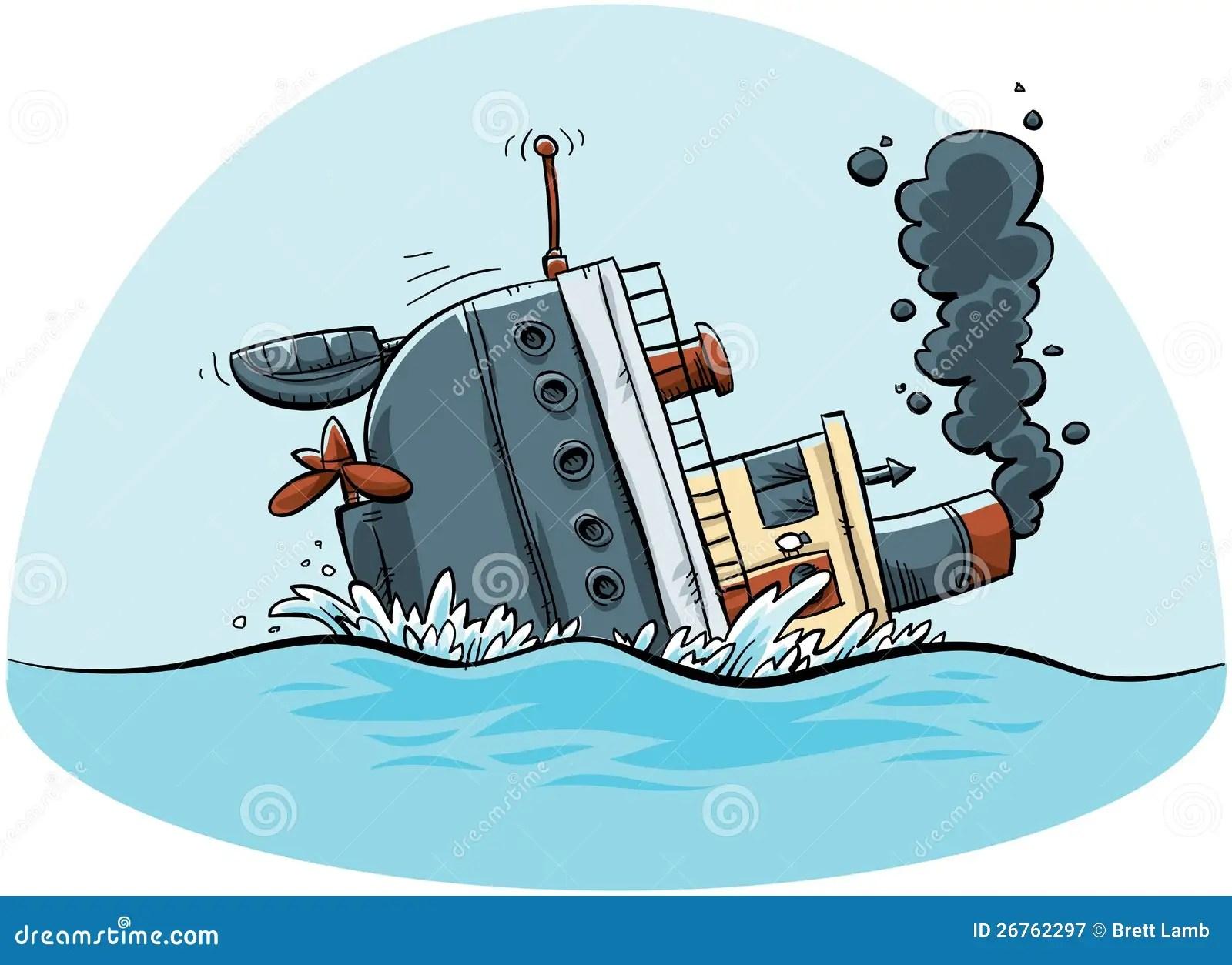 Sinking Ship Stock Illustration Illustration Of Sinking