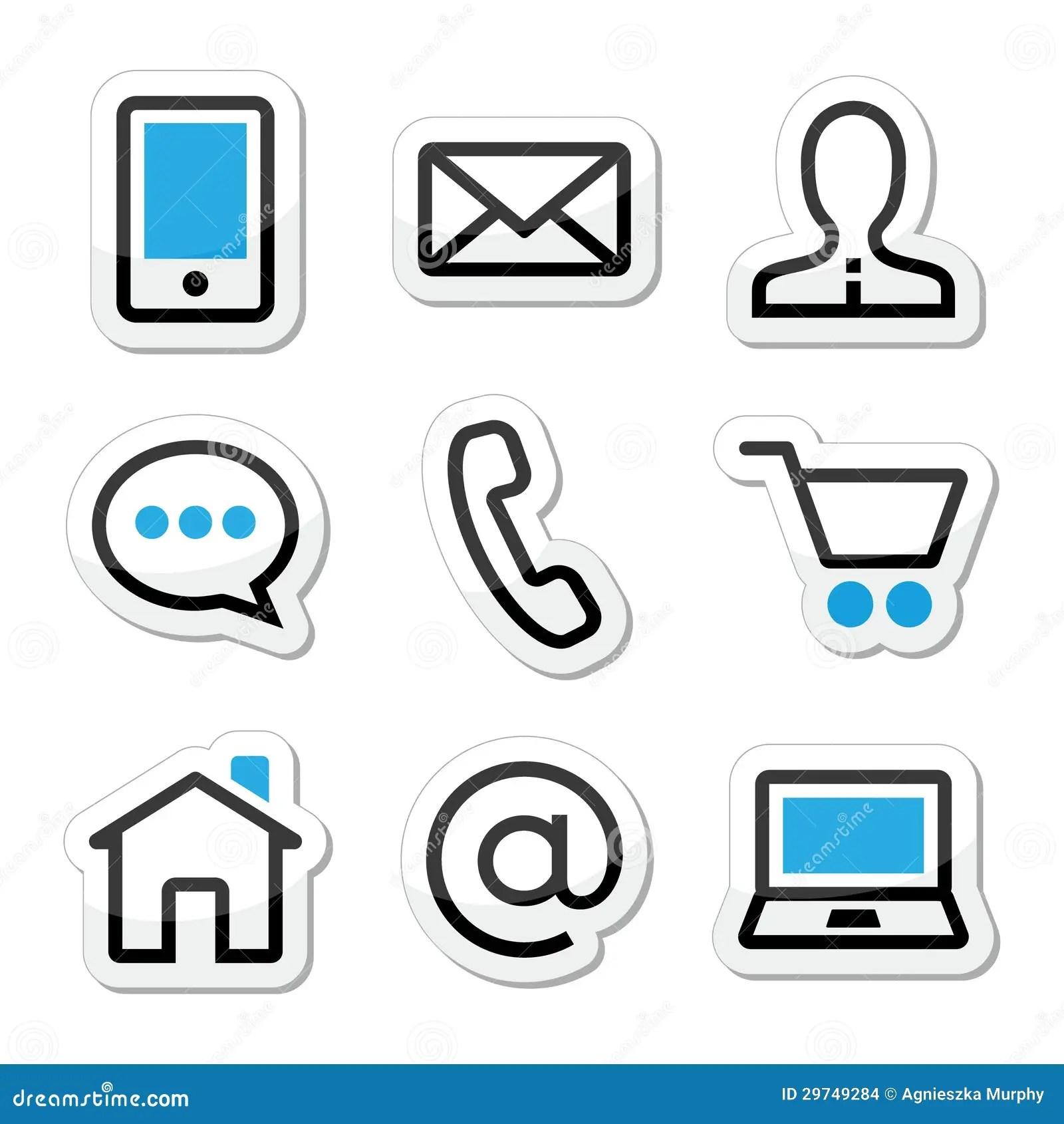 Icones De Course De Page Web De Contact Reglees Images