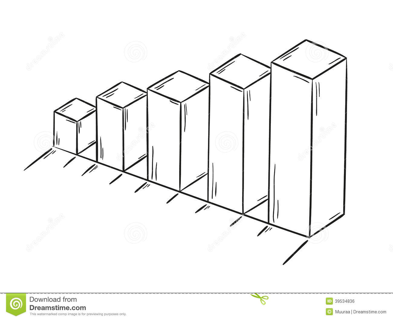 Sketch Of The Bar Chart Stock Vector