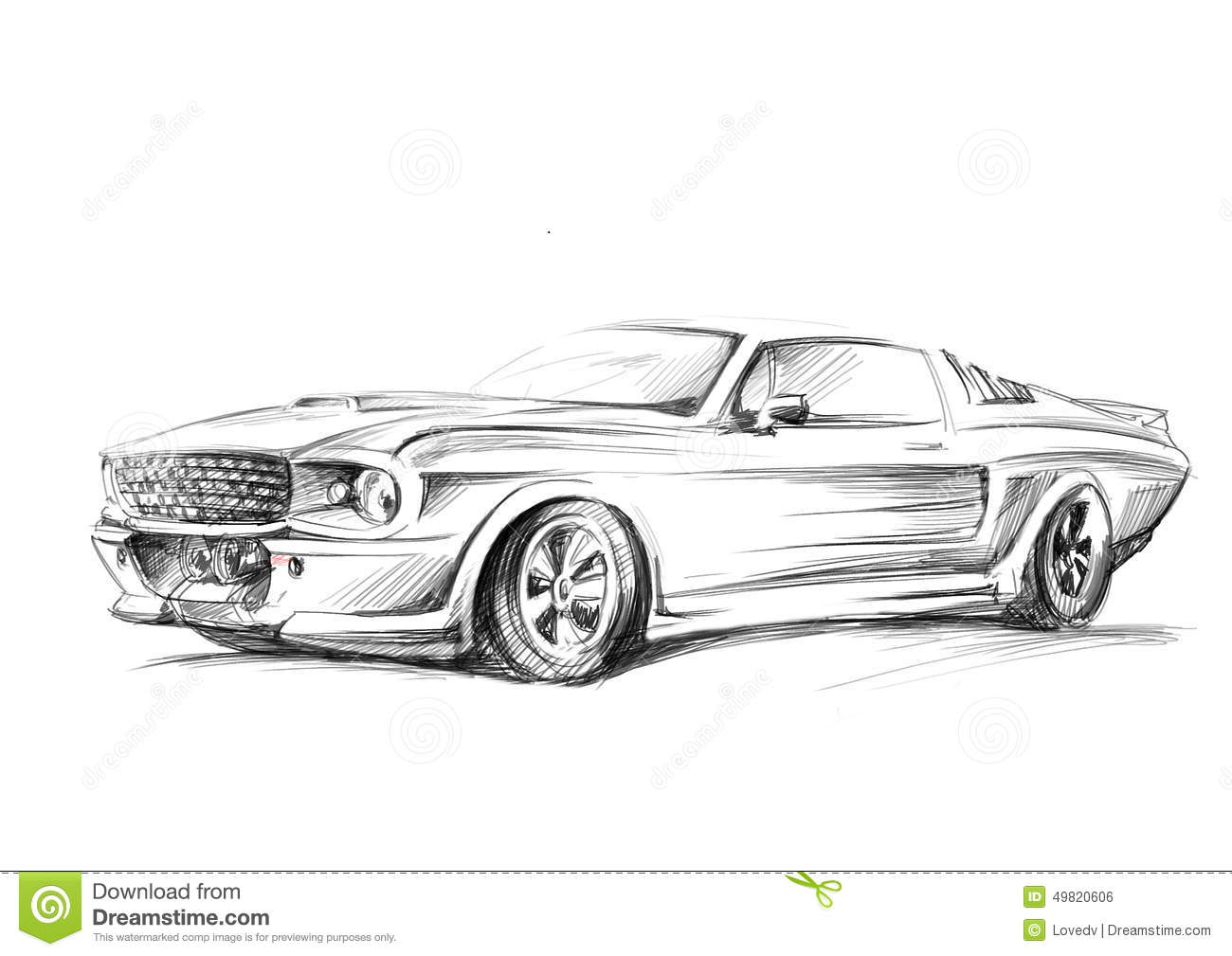 Jaguar Automobile Drawings