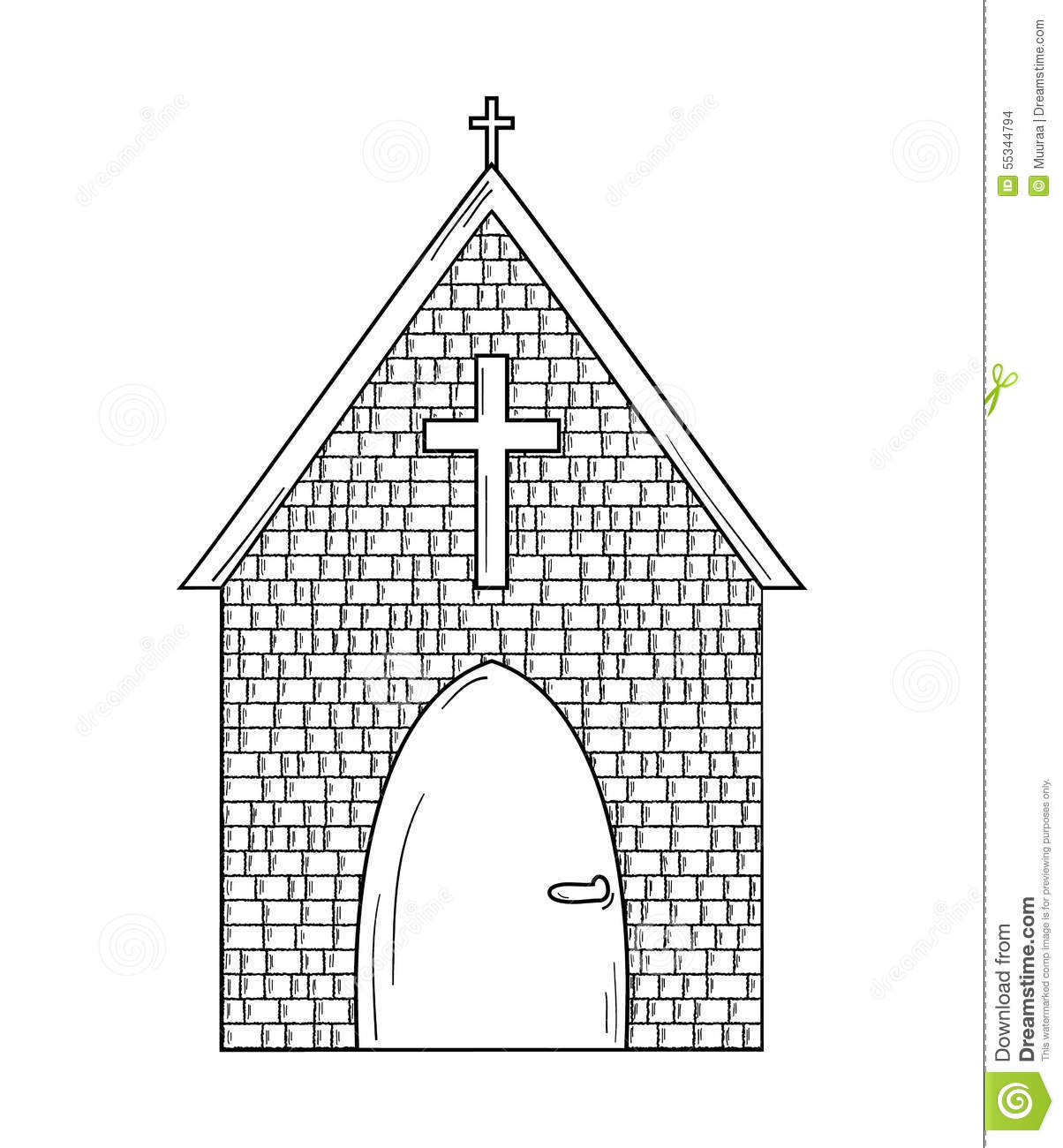 Sketch Of The Church Stock Vector