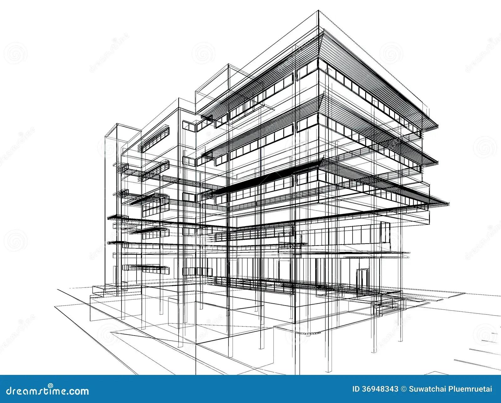Sketch Design Of Building Stock Photos