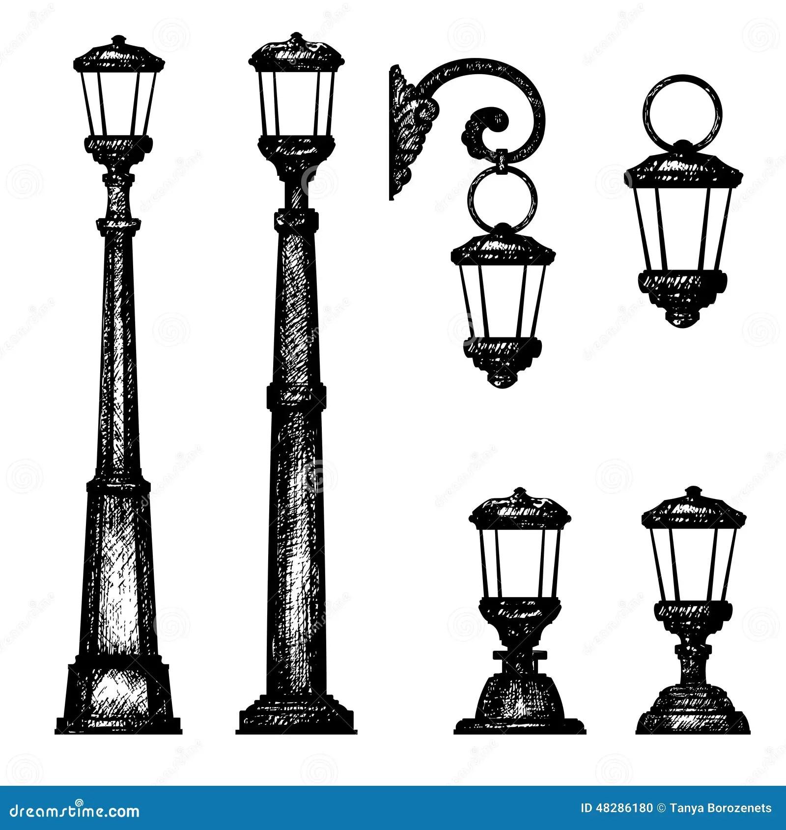 Sketch Of Street Light Stock Illustration Illustration