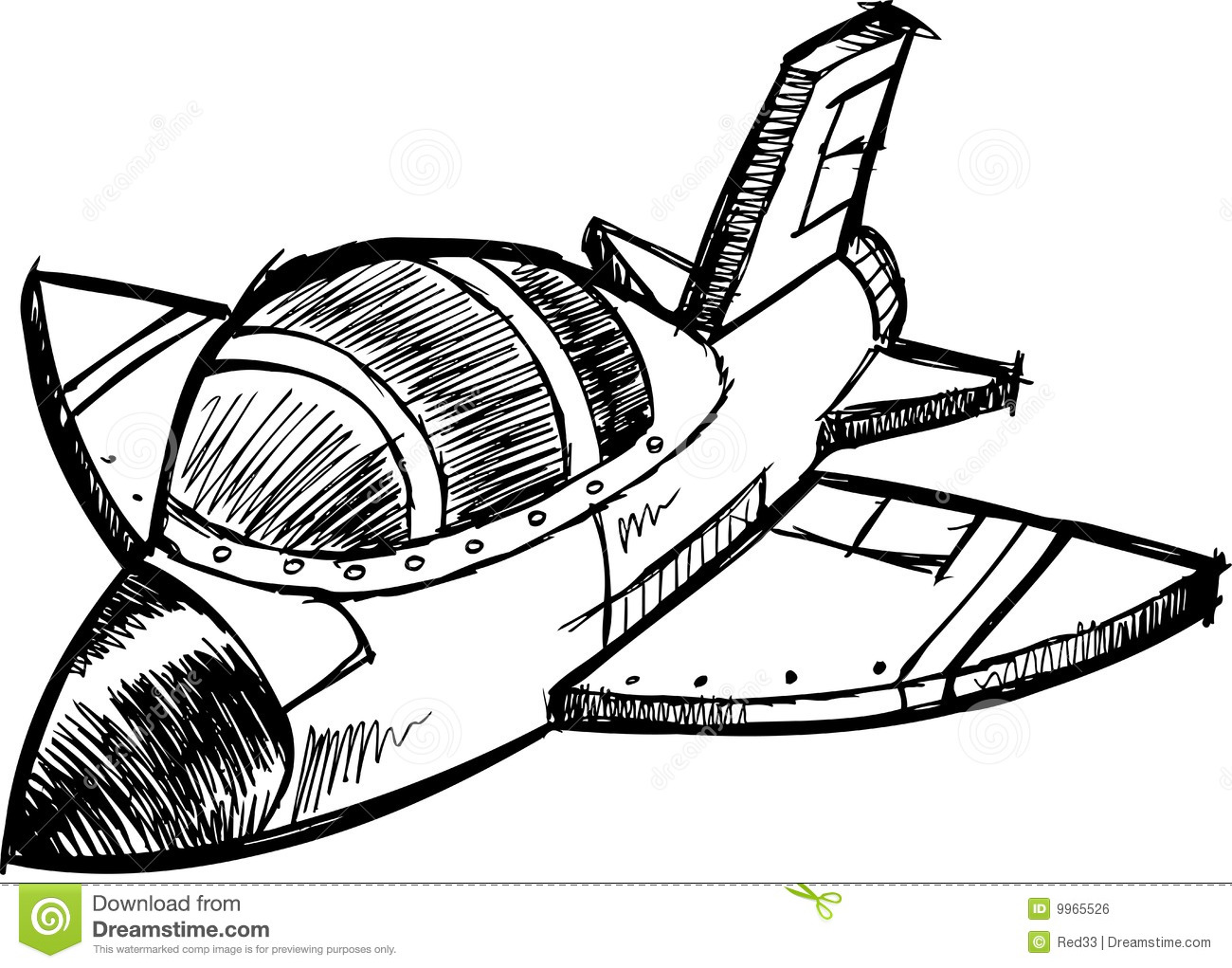Sketchy Jet Vector Illustration Royalty Free Stock Image