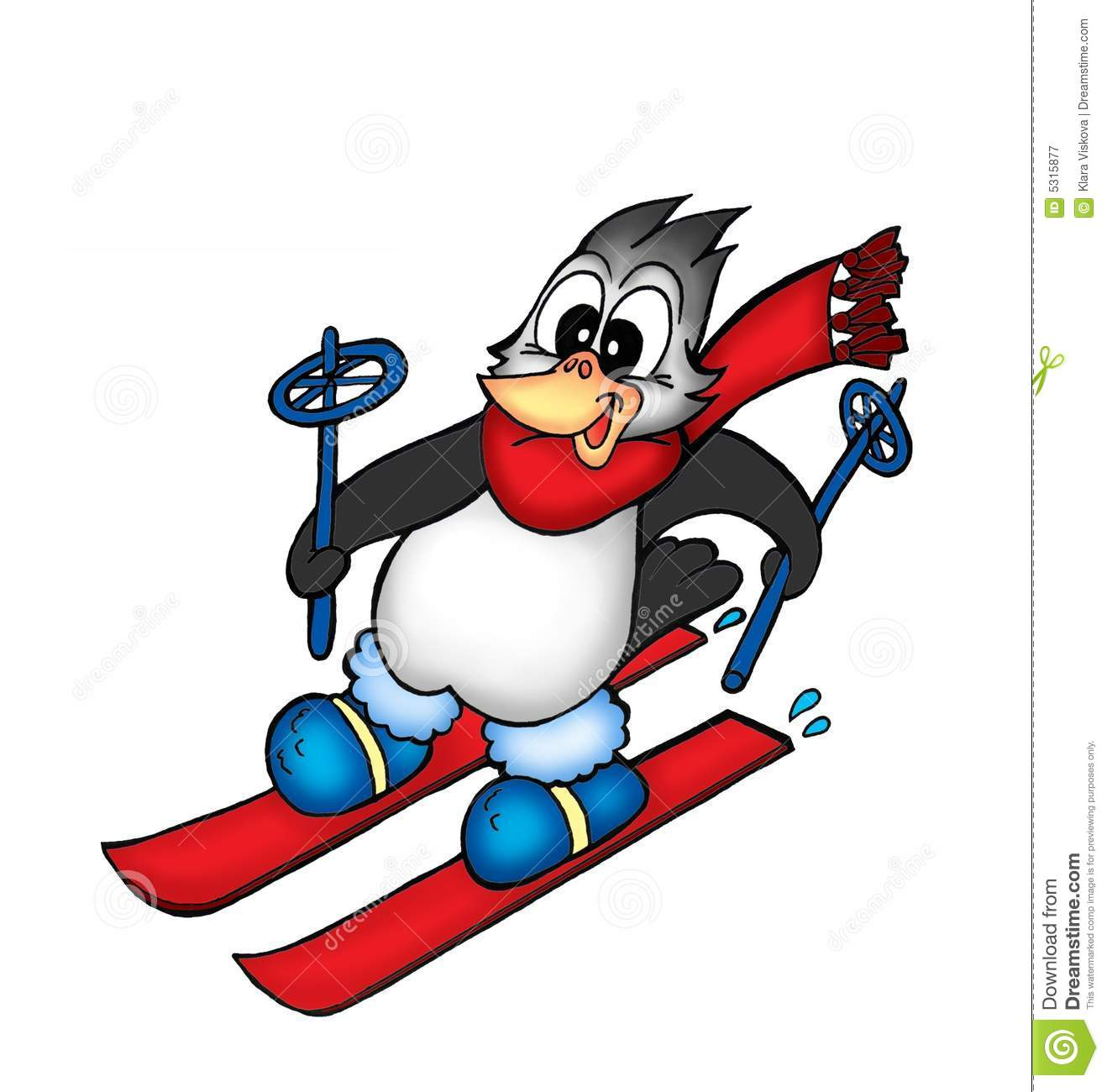 Snow Funny Cartoon About Skiing