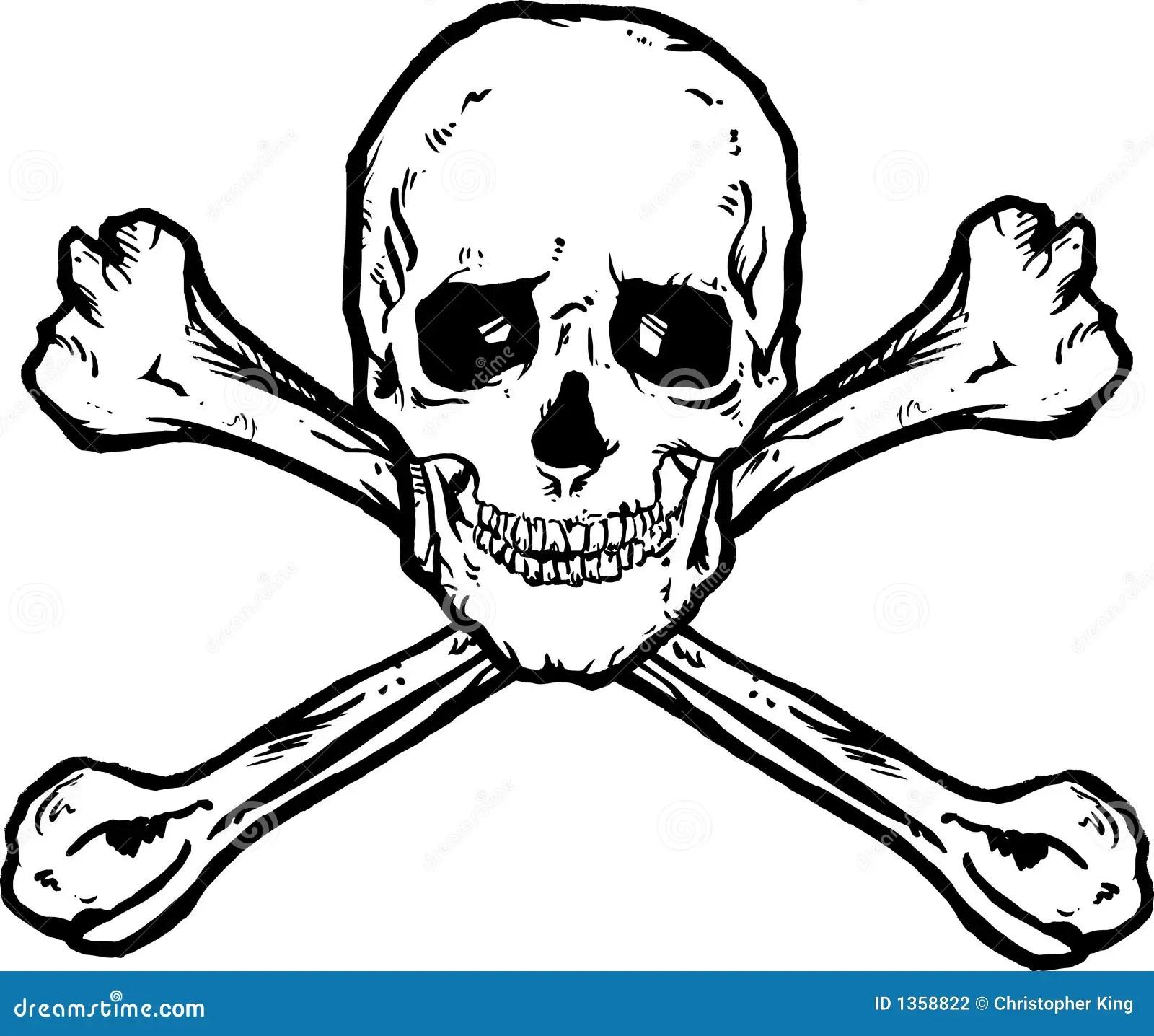 Skull And Crossbones Stock Vector Illustration Of Grunge
