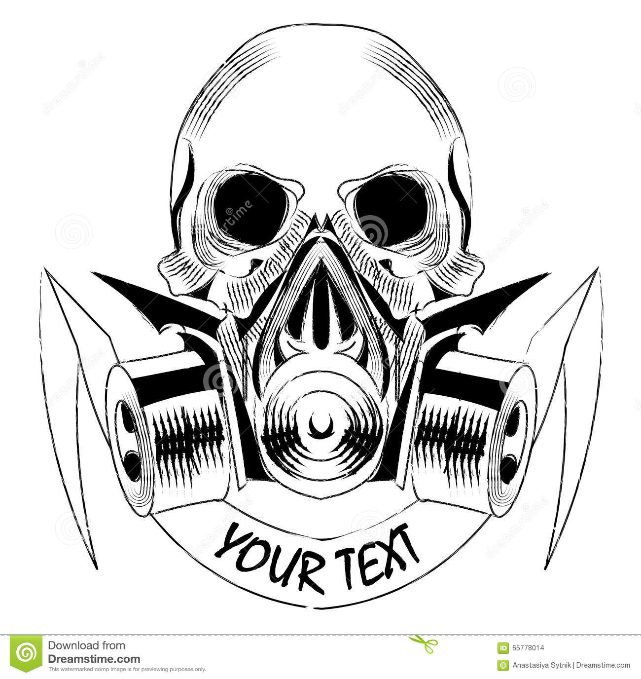Gas Mask And Skull Royalty Free Stock Image