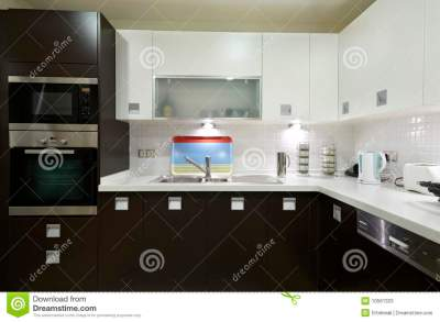 Sleek Modern Kitchen Stock Photos - Image: 10561323