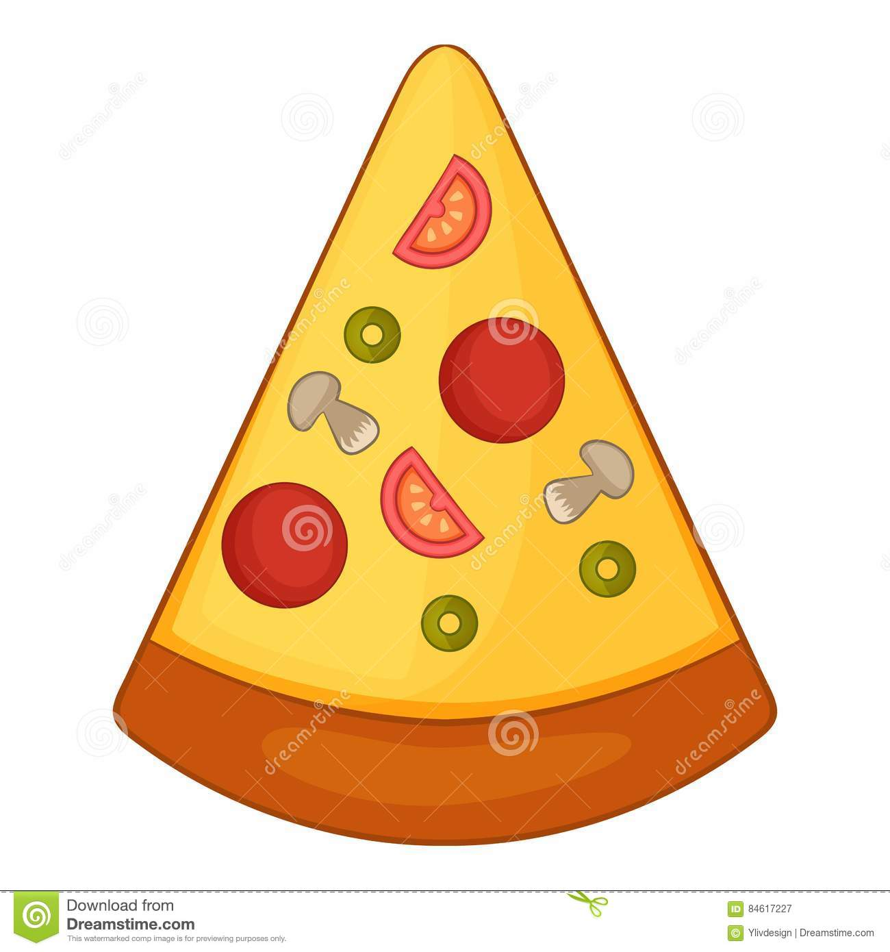 Cartoon Pizza Chef Giving Delicious Hand Sign Vector Illustration