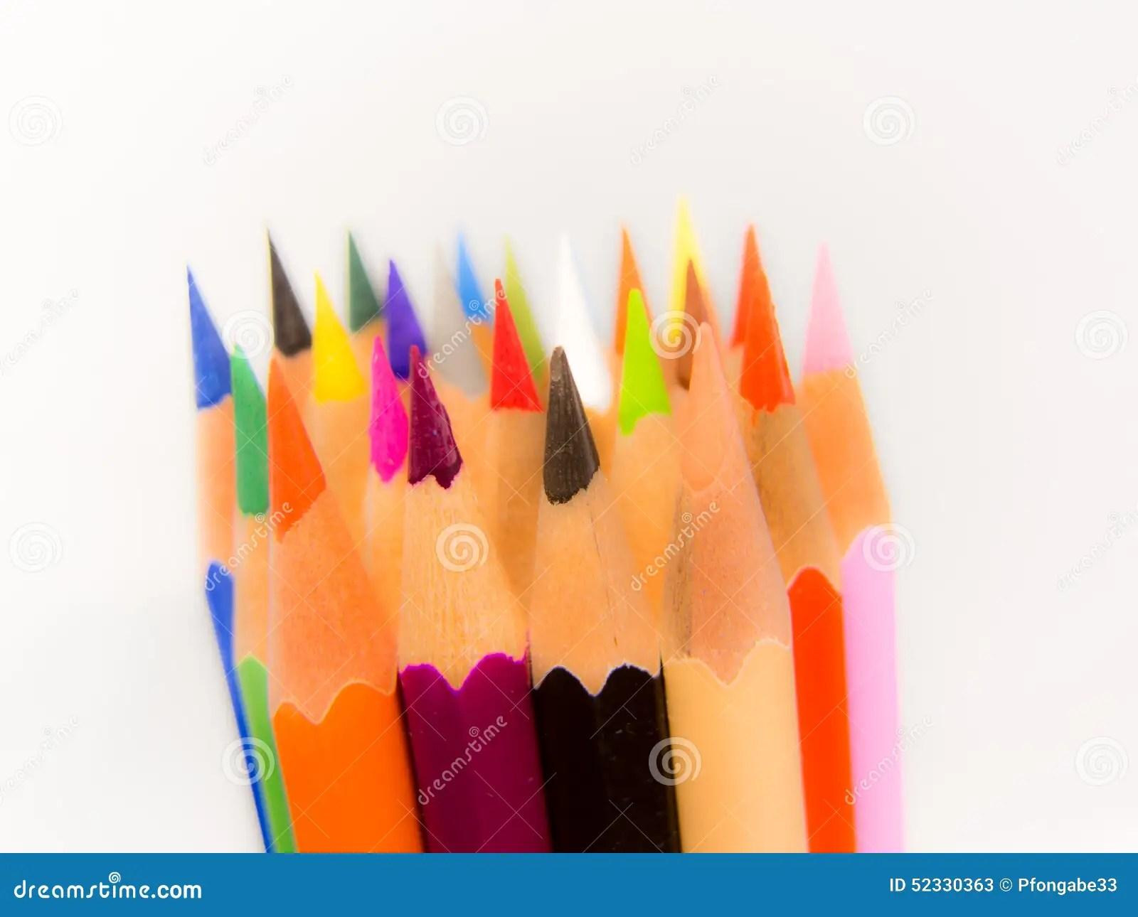 Crayon Tips Stock Photography