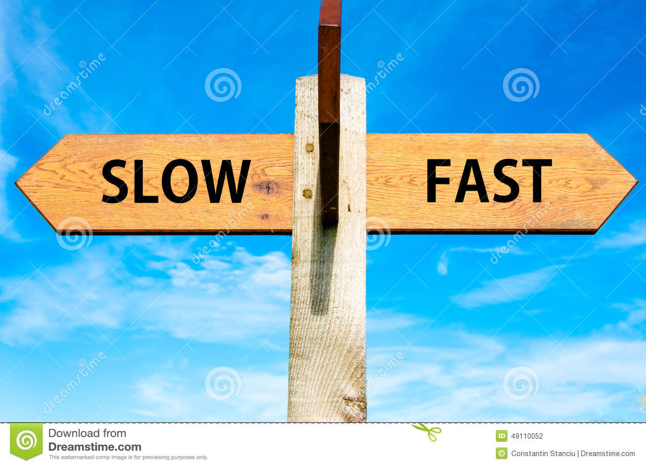 Slow Versus Fast Stock Photo Image Of Fast Idea Writing