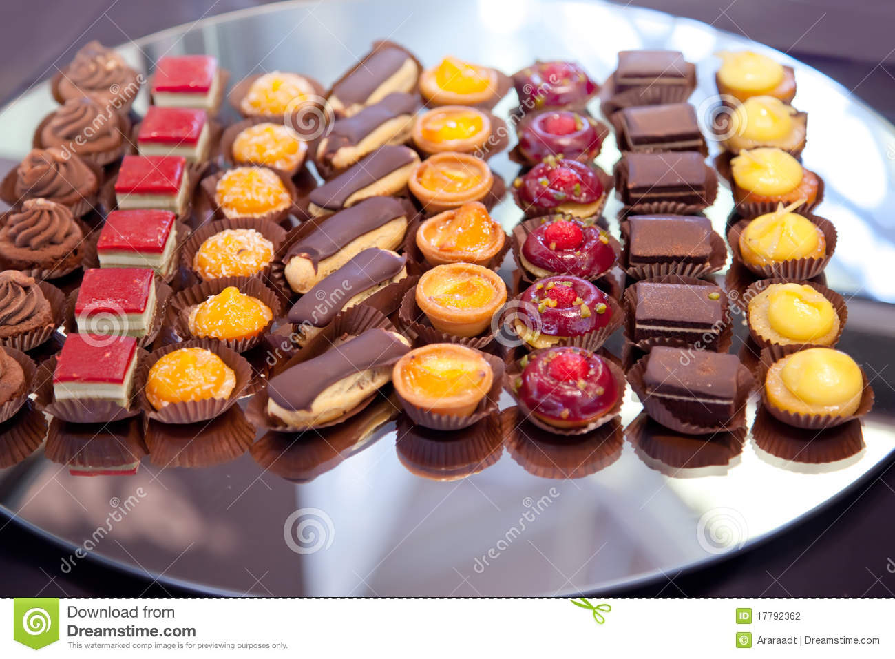 Small Cakes On Tray Stock Photo Image Of Restaurant