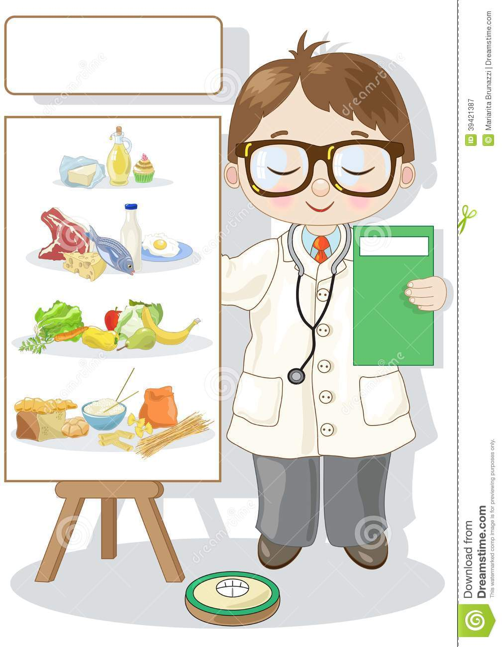 Small Dietitian Stock Vector - Image: 39421387