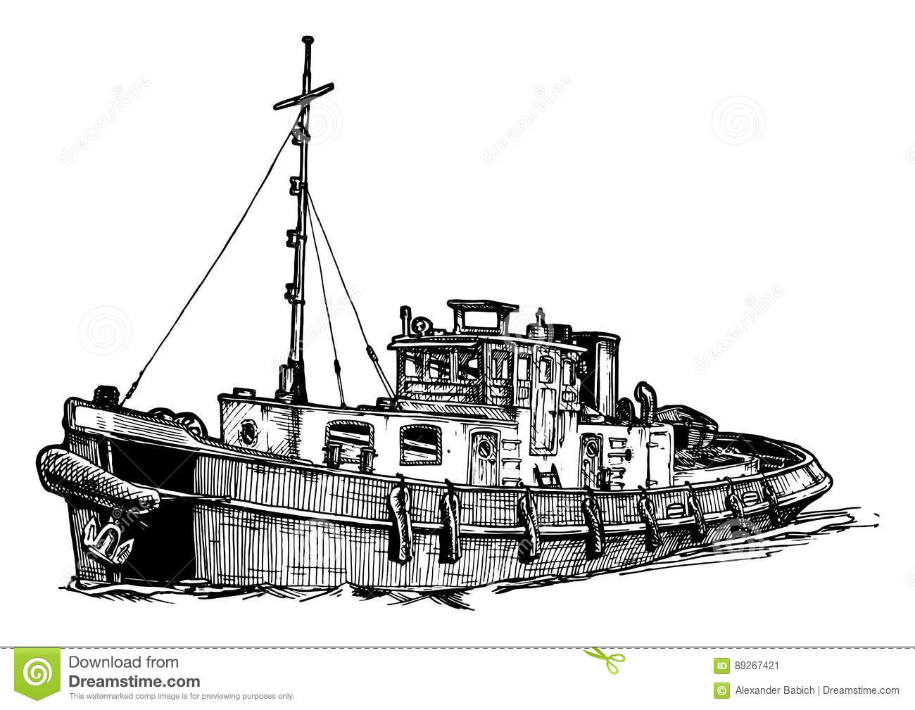 Tugboat Cartoons Illustrations Amp Vector Stock Images
