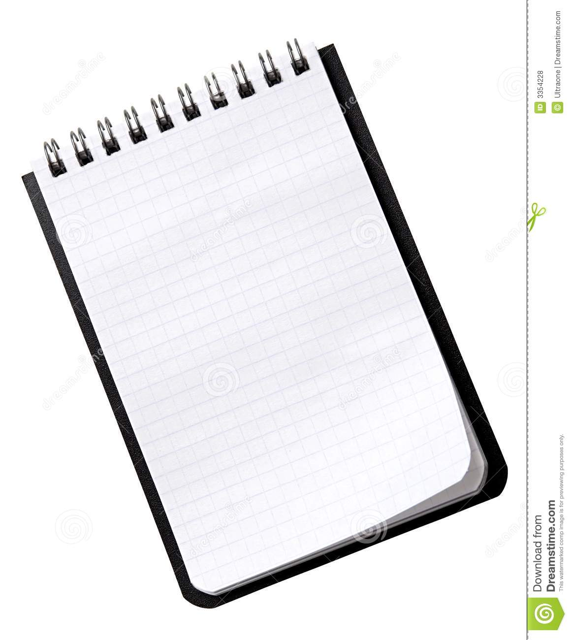 Small Notebook On A White Stock Photo Image Of Office