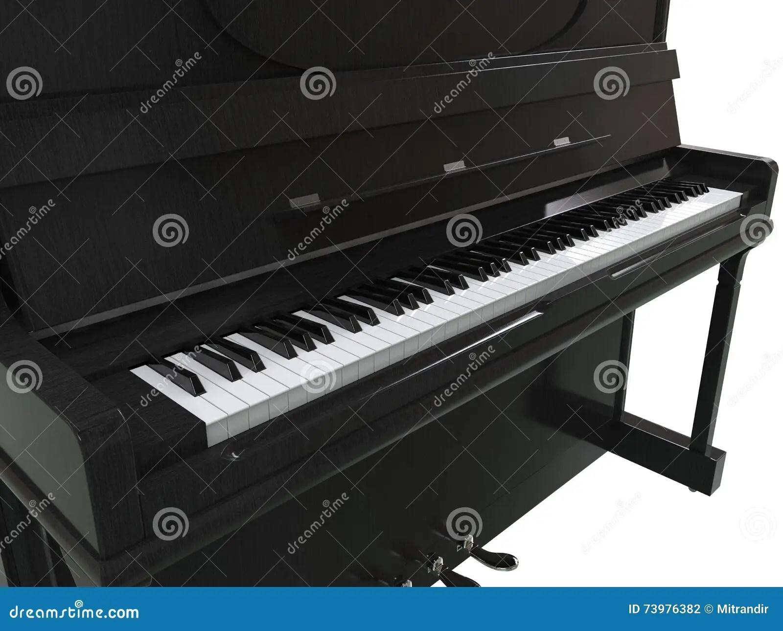 Small Upright Piano Stock Photo