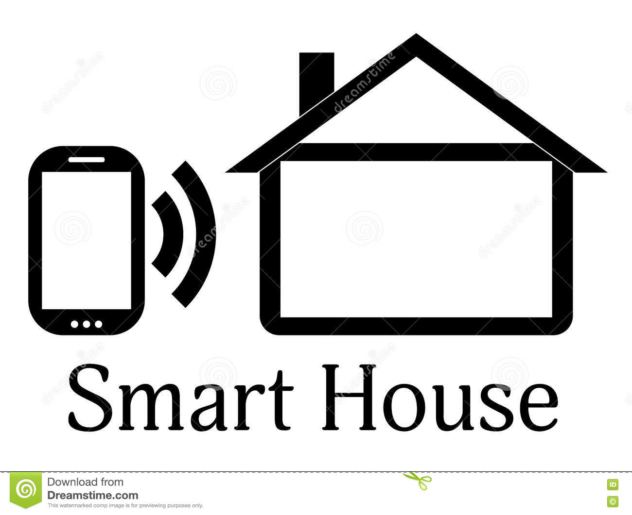Smart Home Icon Security And Automated System Vector