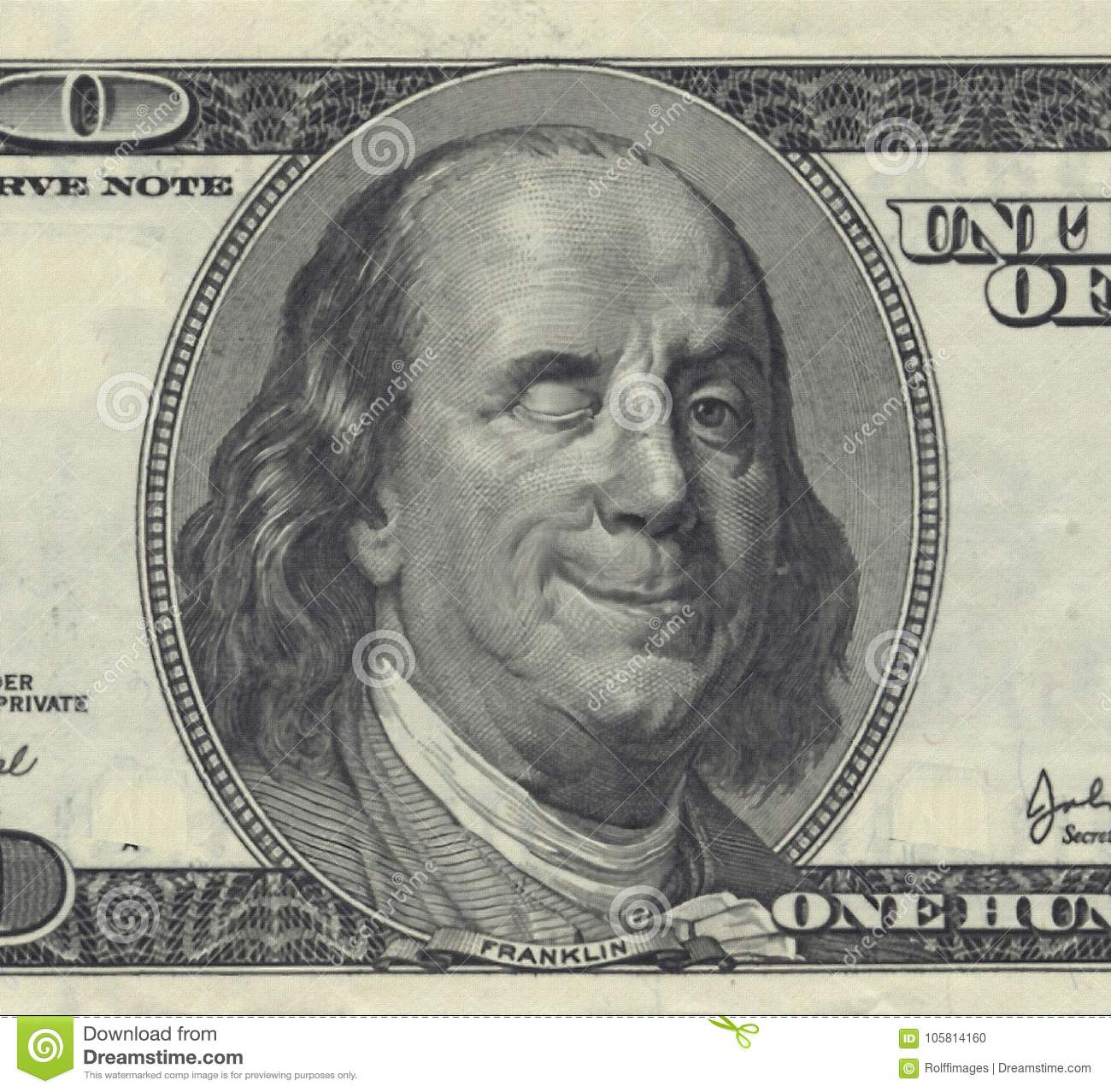 Smiling Ben Franklin Stock Photo Image Of Bill Funny