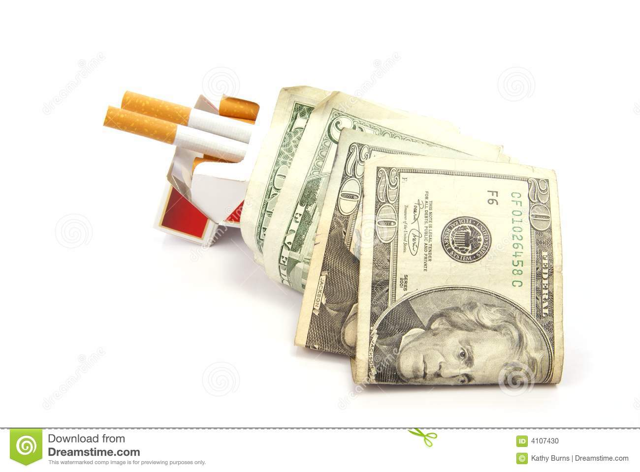 Smoking Costs Stock Photo Image Of Expensive Money Risk