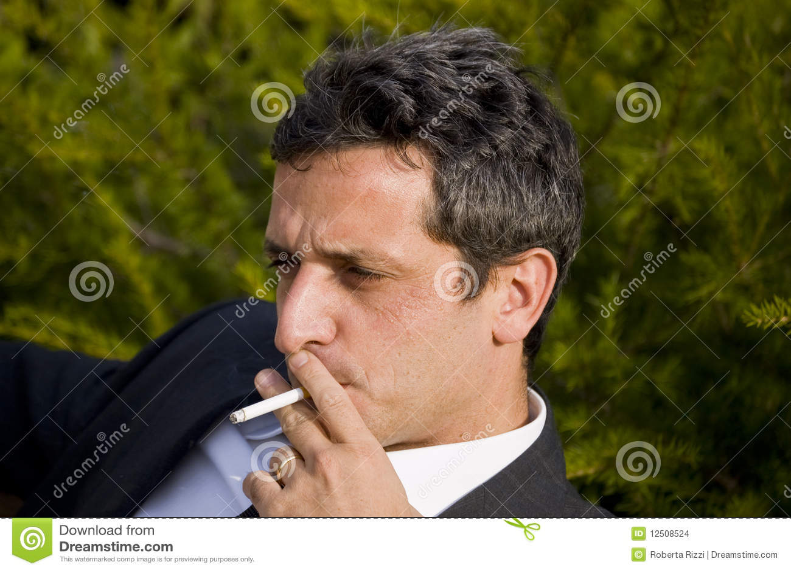 Smoking Man Stock Images Image 12508524