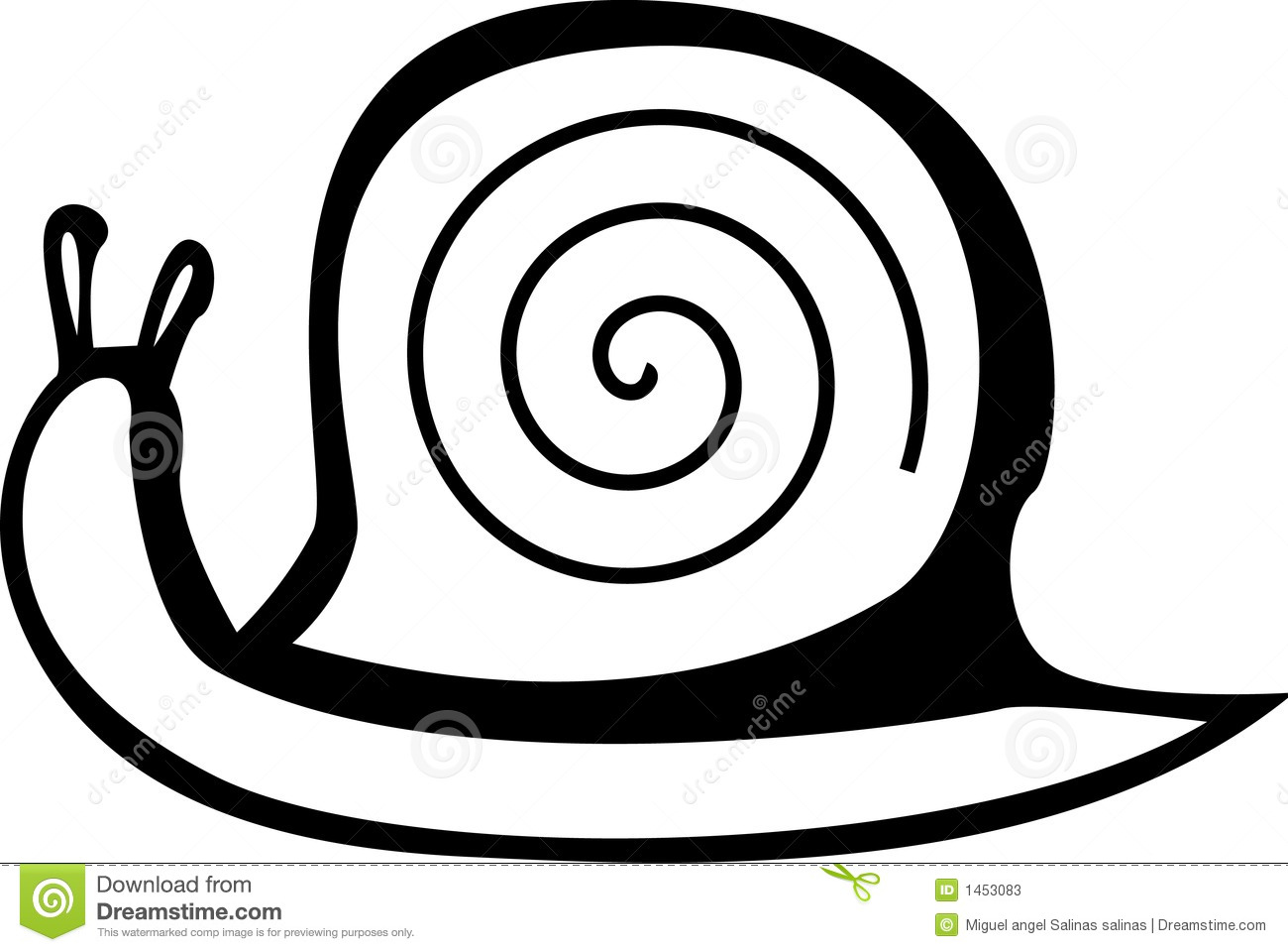 Snail With Shell Vector File Available Stock Vector
