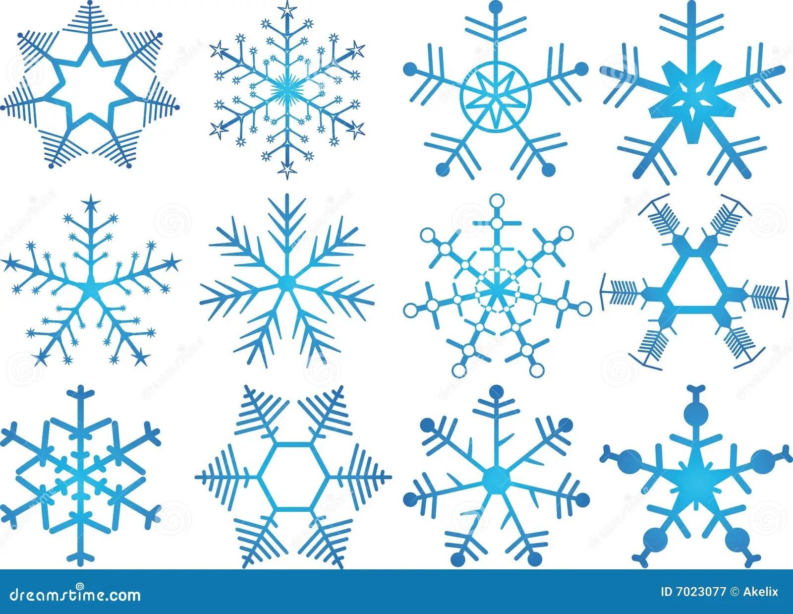 snowflakes vector illustration fully editable easy change