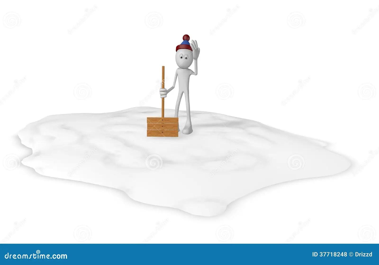 Snow Shovel Royalty Free Stock Photos