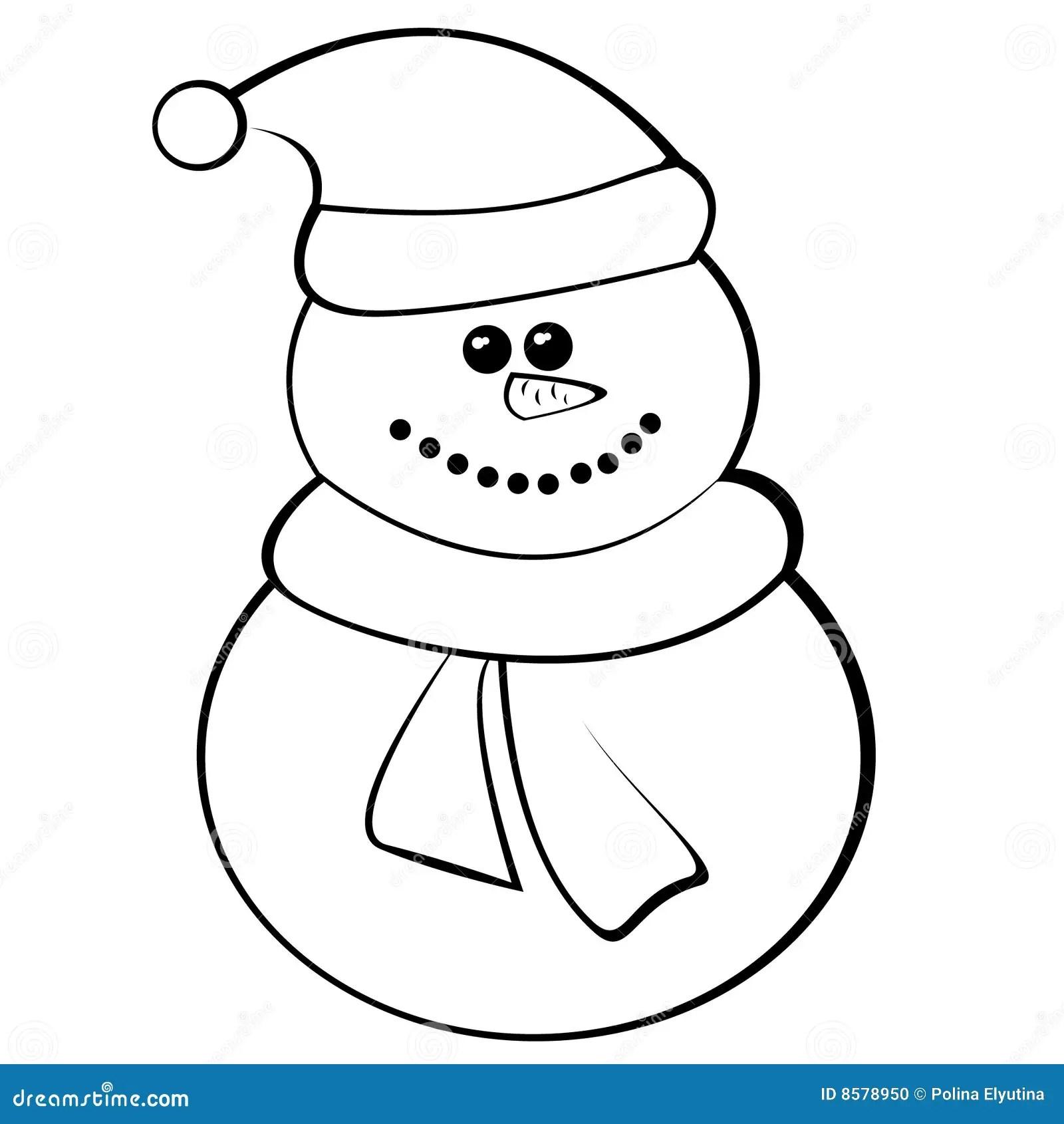 Snowman Stock Vector Illustration Of Celebration