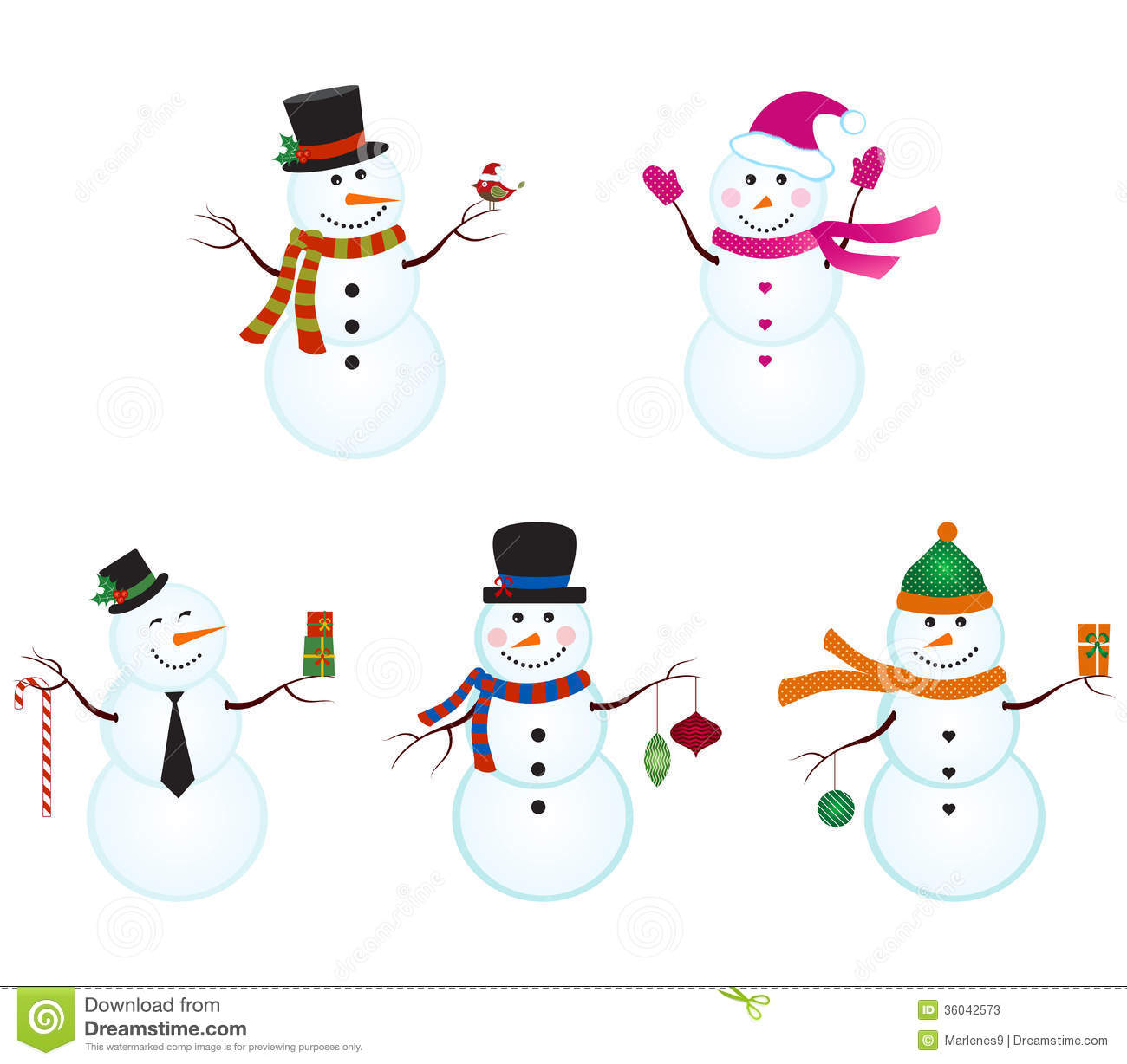 Snowmen Stock Image Image Of Nature Cold Seasons
