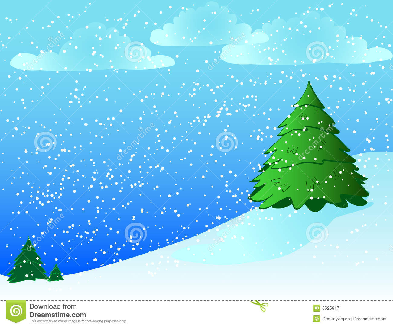 Snowy Background Stock Illustration Image Of December