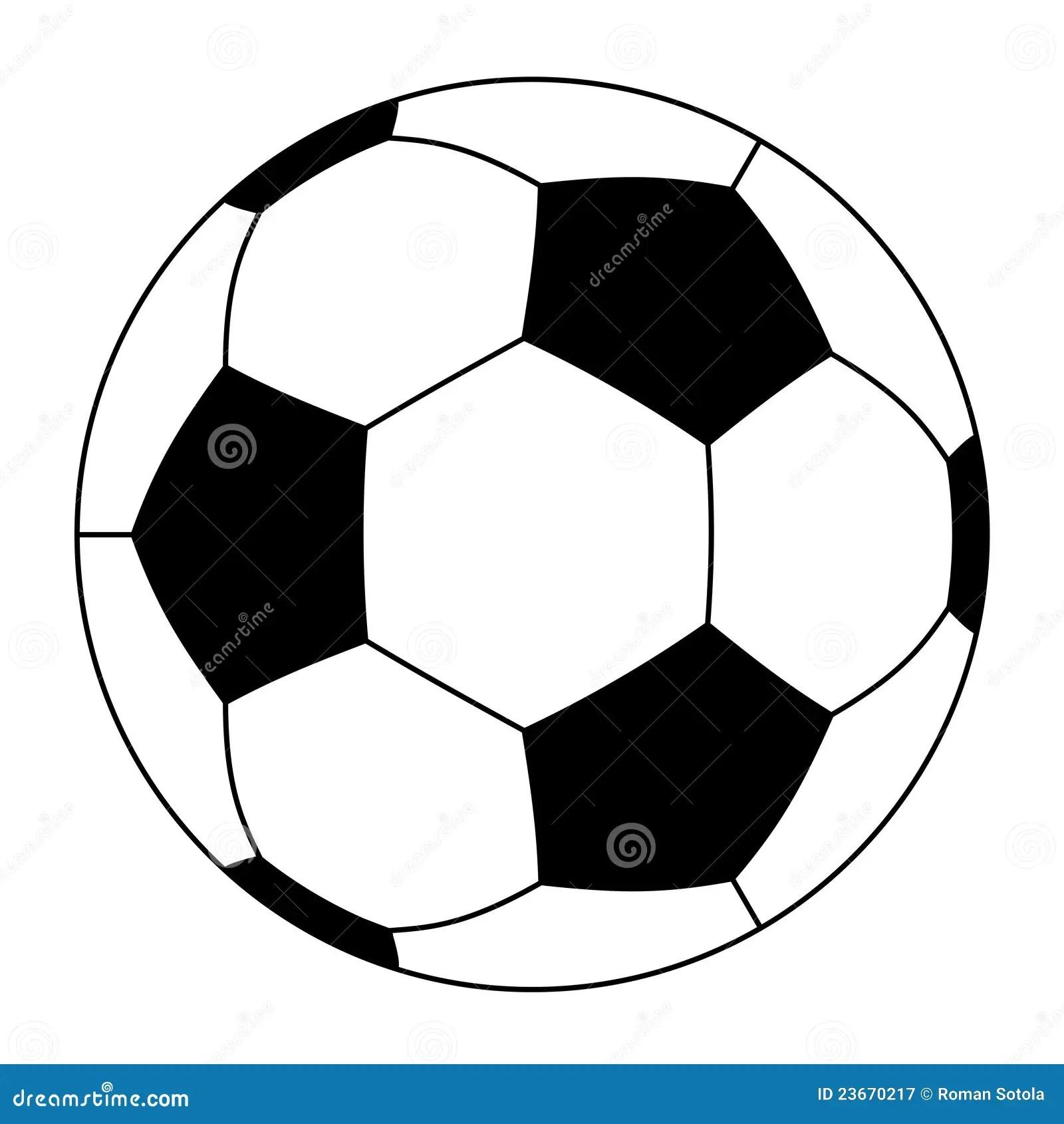 Soccer Ball Stock Vector Illustration Of Pentagon