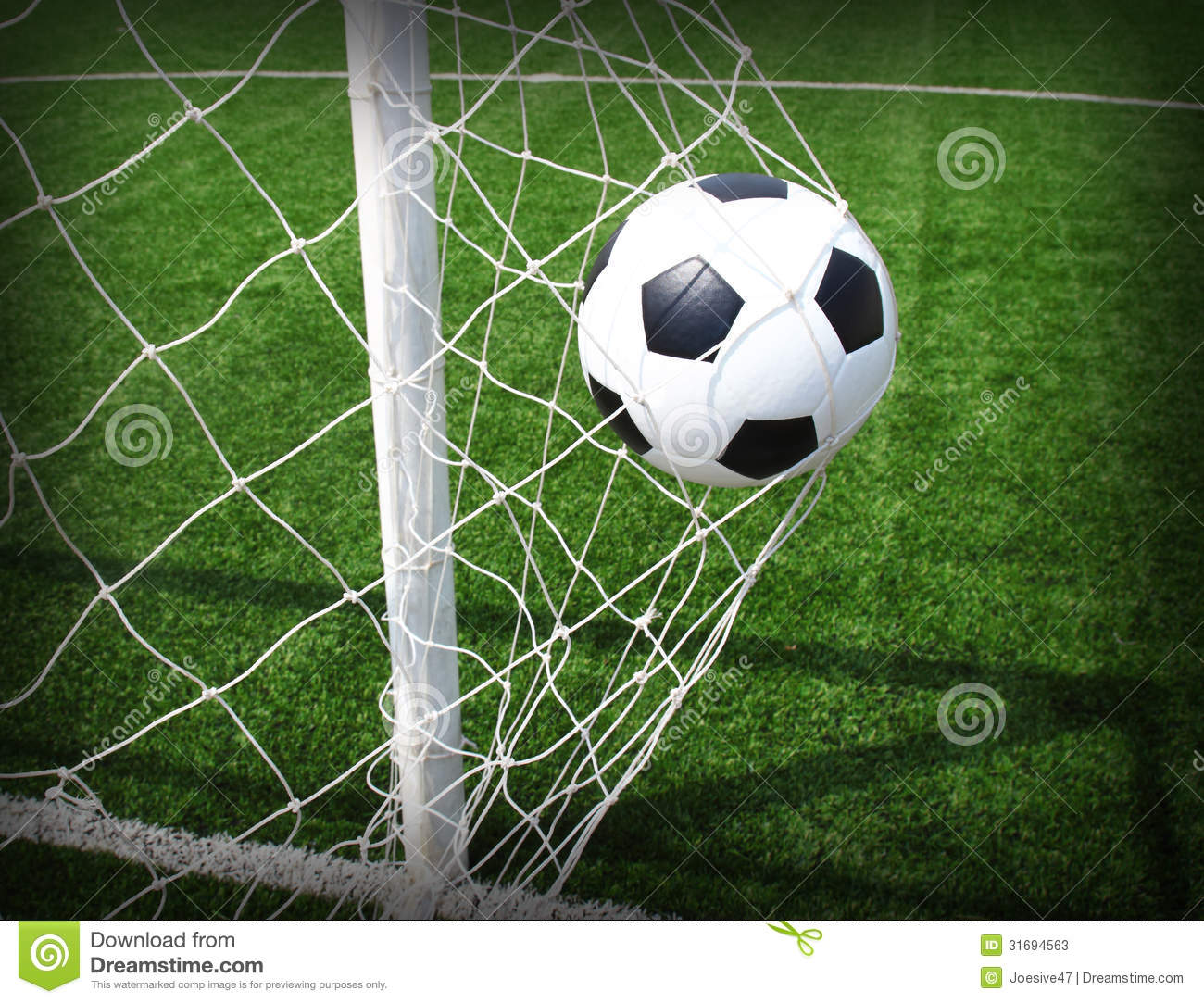 Soccer Ball In Goal Stock Image Image Of Playground