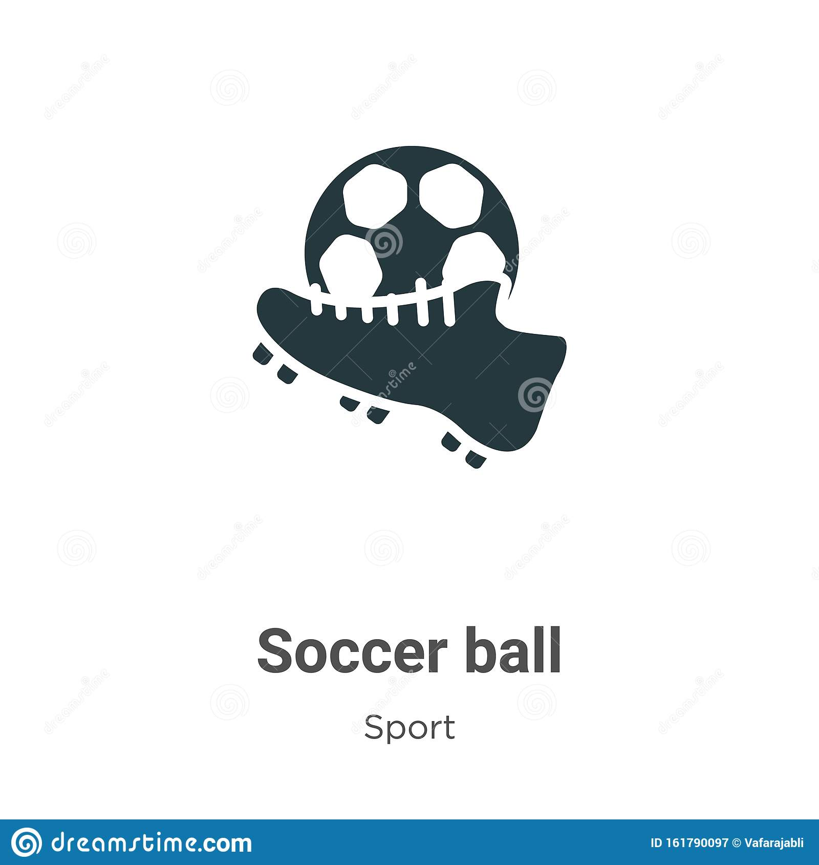Soccer Ball Vector Icon On White Background Flat Vector