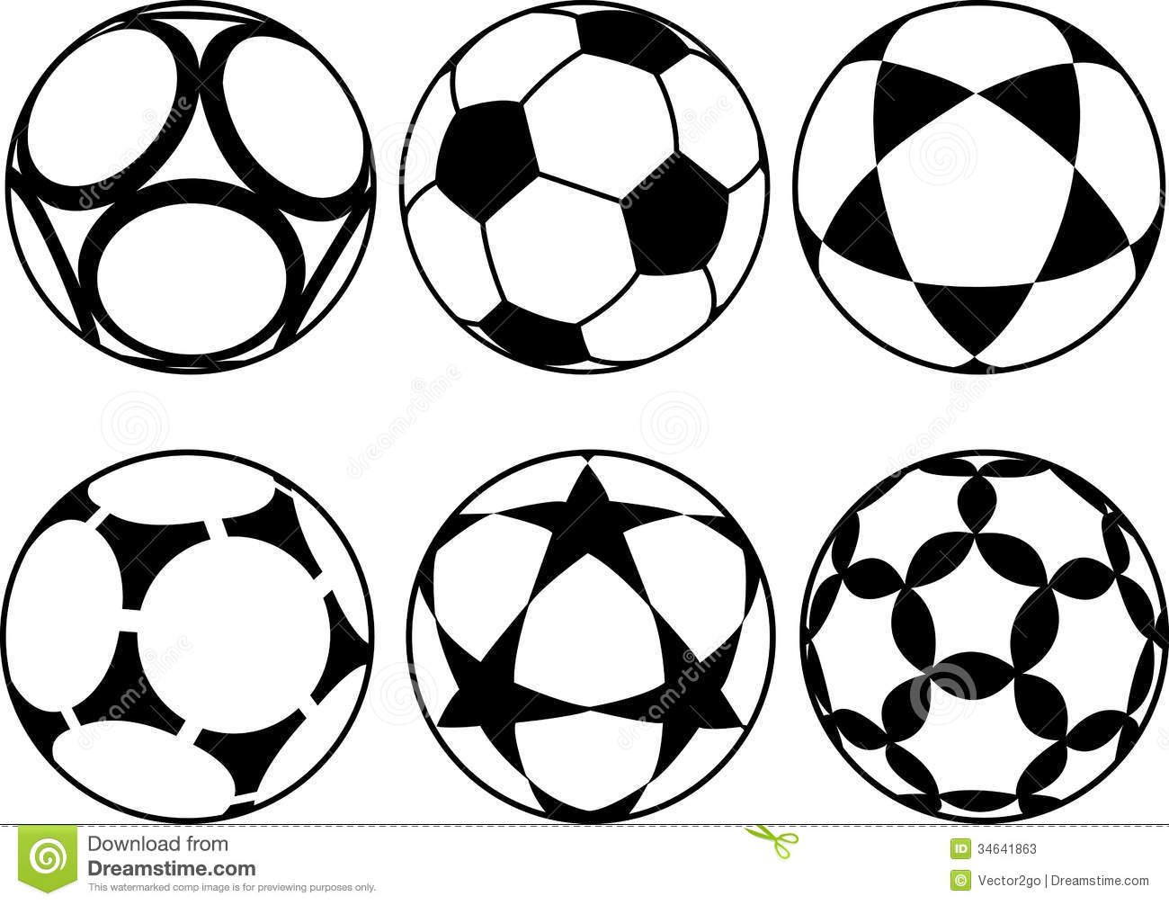 Soccer Balls Stock Vector Illustration Of Football