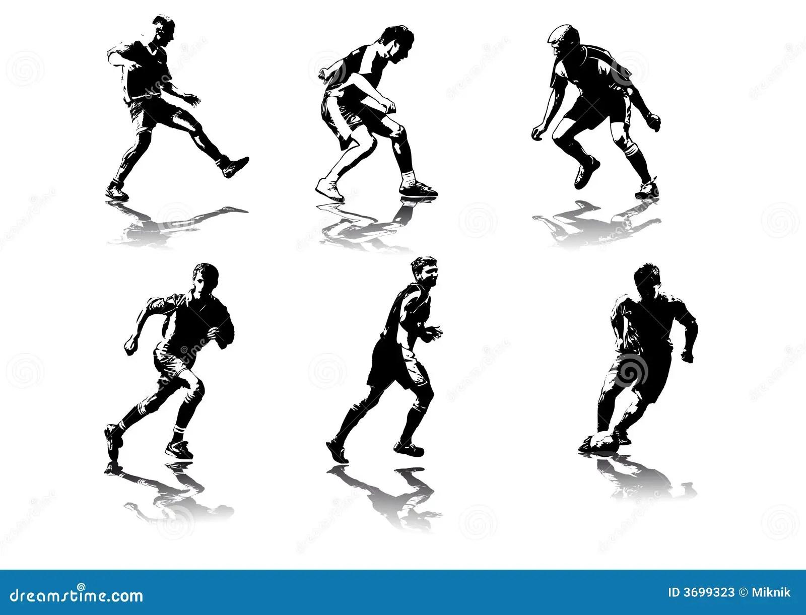 Soccer Figures 5 Stock Photos