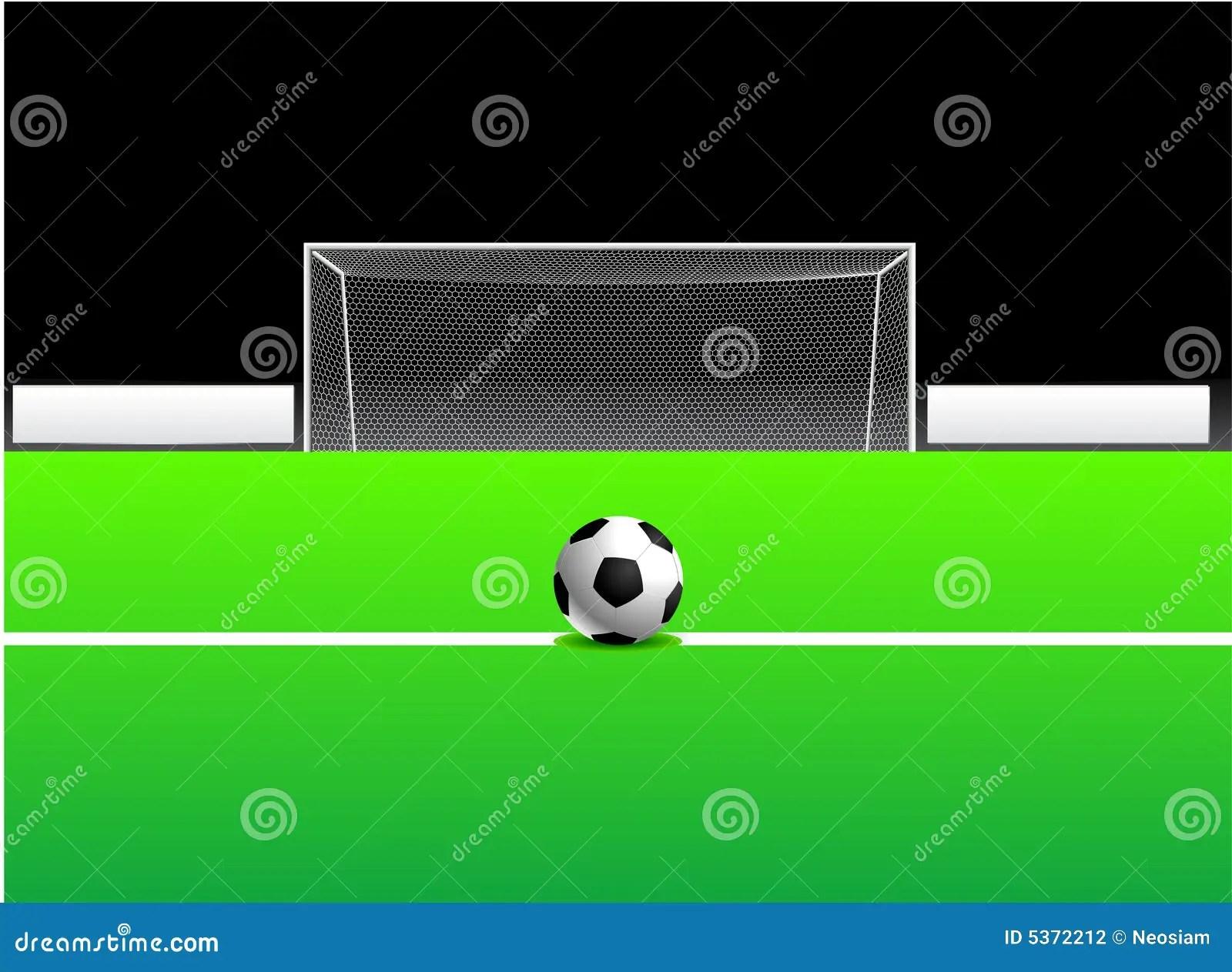 Soccer Football Ball And Goal Stock Vector
