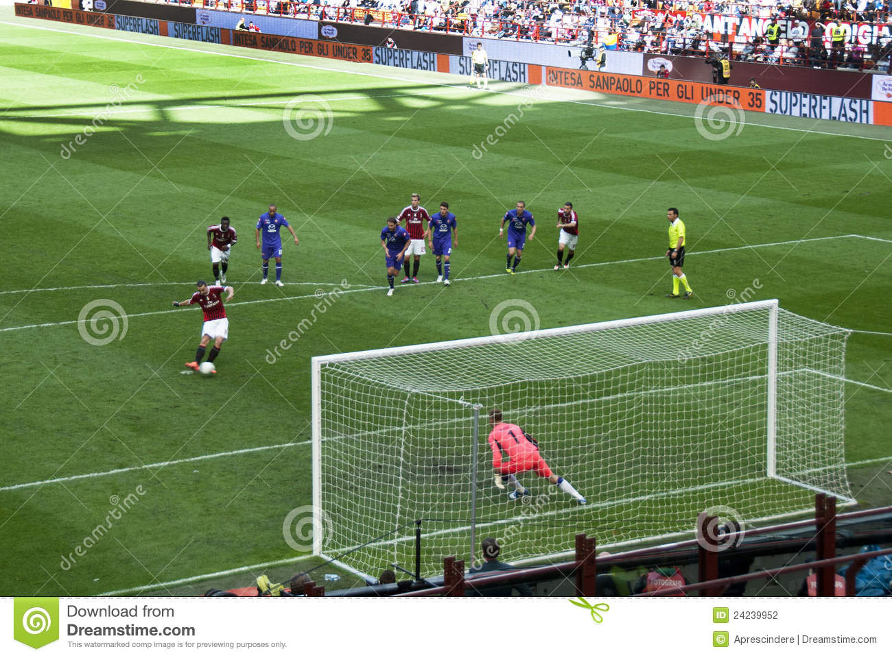 Soccer The Penalty Kick Editorial Photography Image