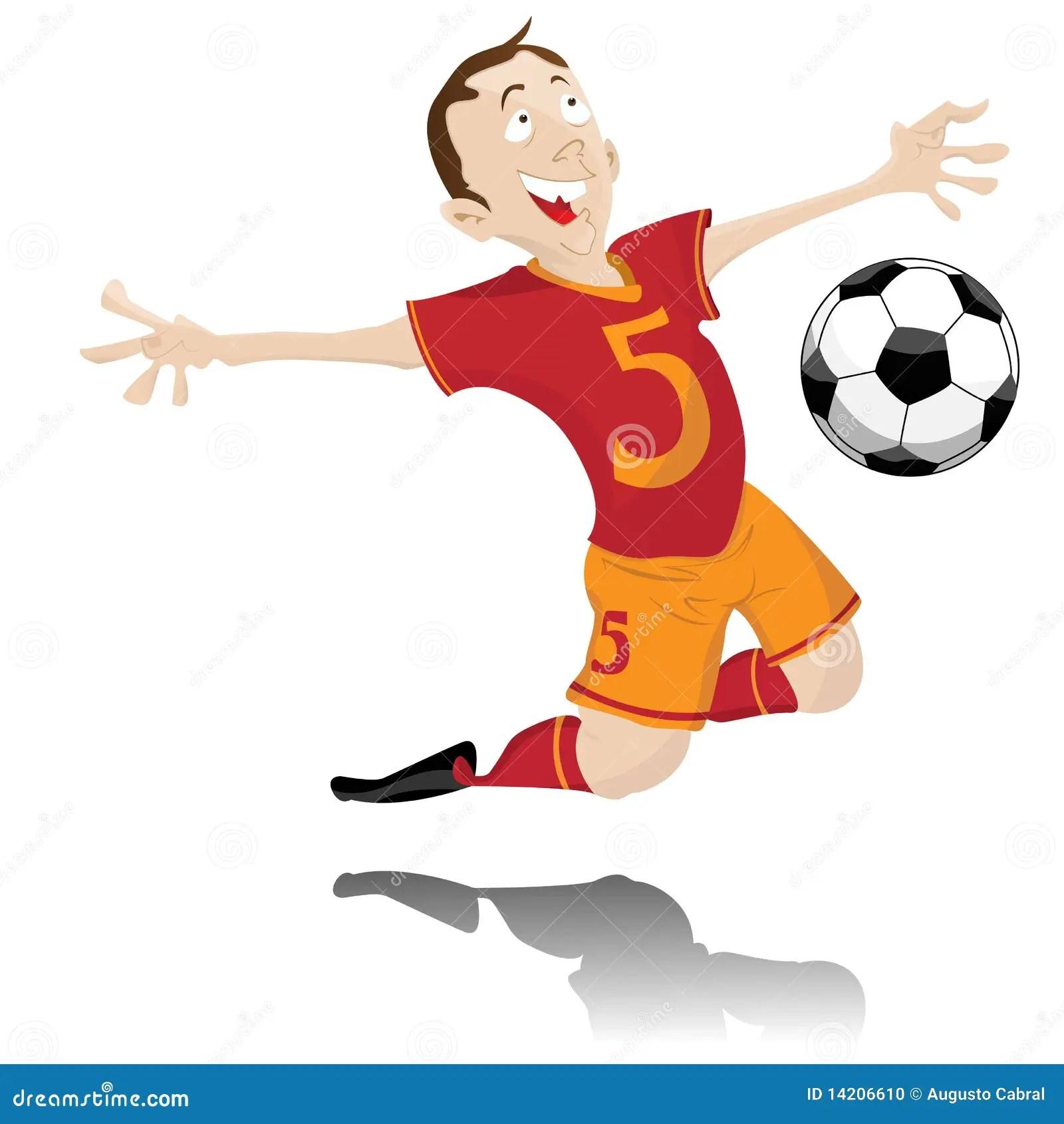 Soccer Player Celebrating Goal Stock Vector