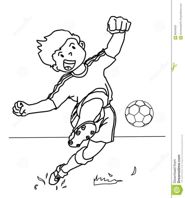 football player coloring page # 69