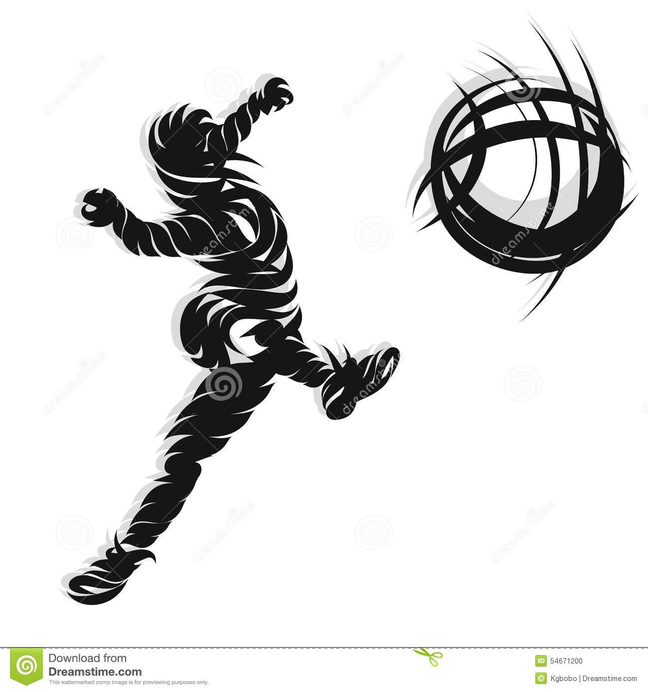 Soccer Shooting Ink Style Stock Vector Illustration Of
