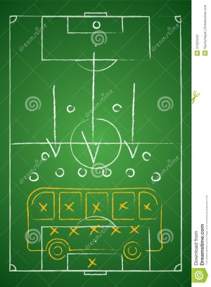 Soccer Tactic Table Defensive Bus Tactic Stock Photos  Image: 31325043