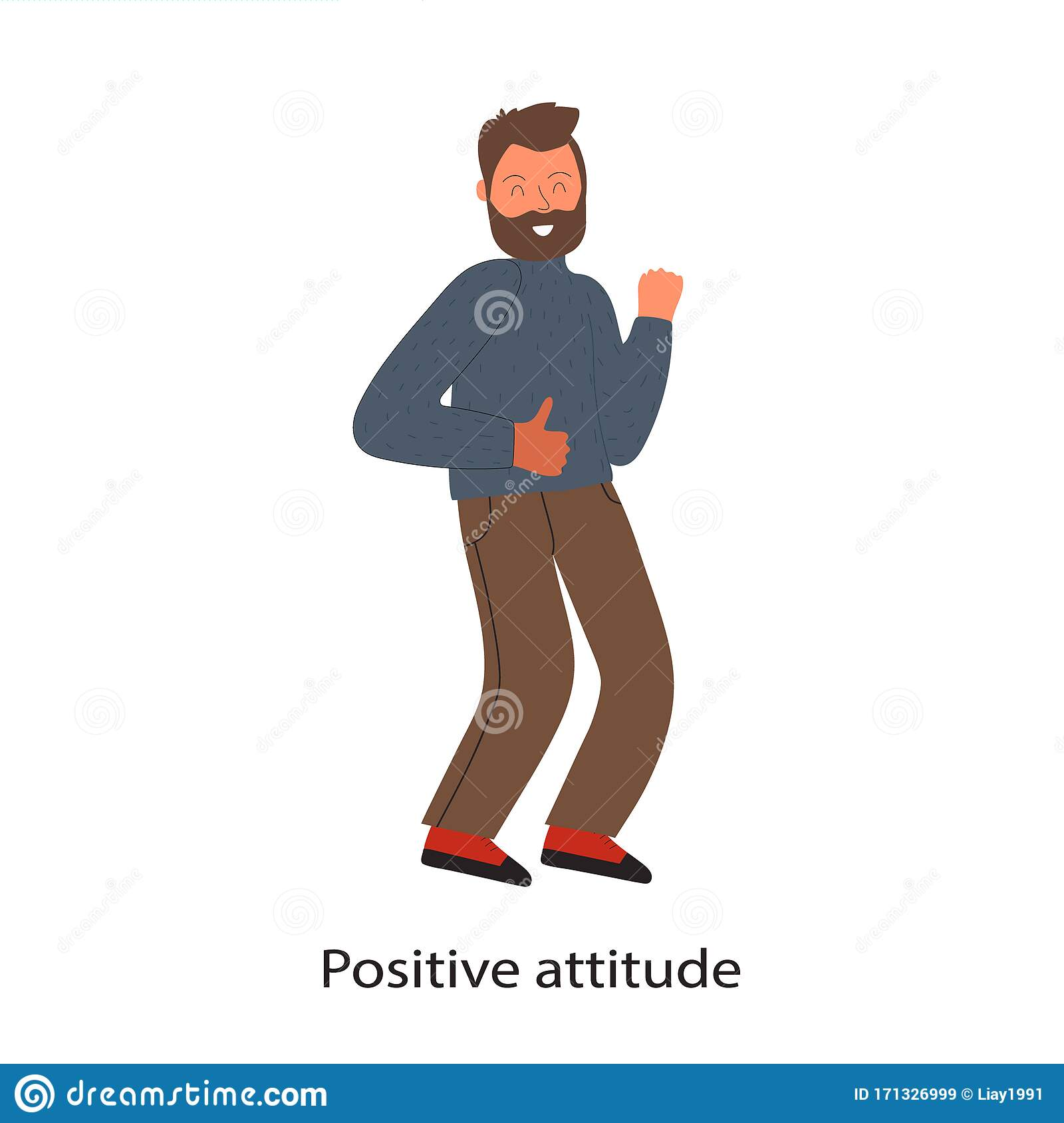 Soft Skills Concept With Dancing Businessman And Text