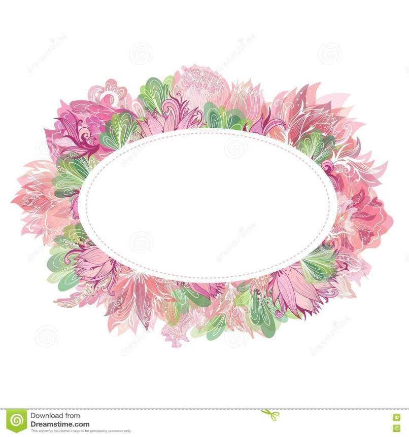 Oval Photo Frame Template | Frameswalls.org