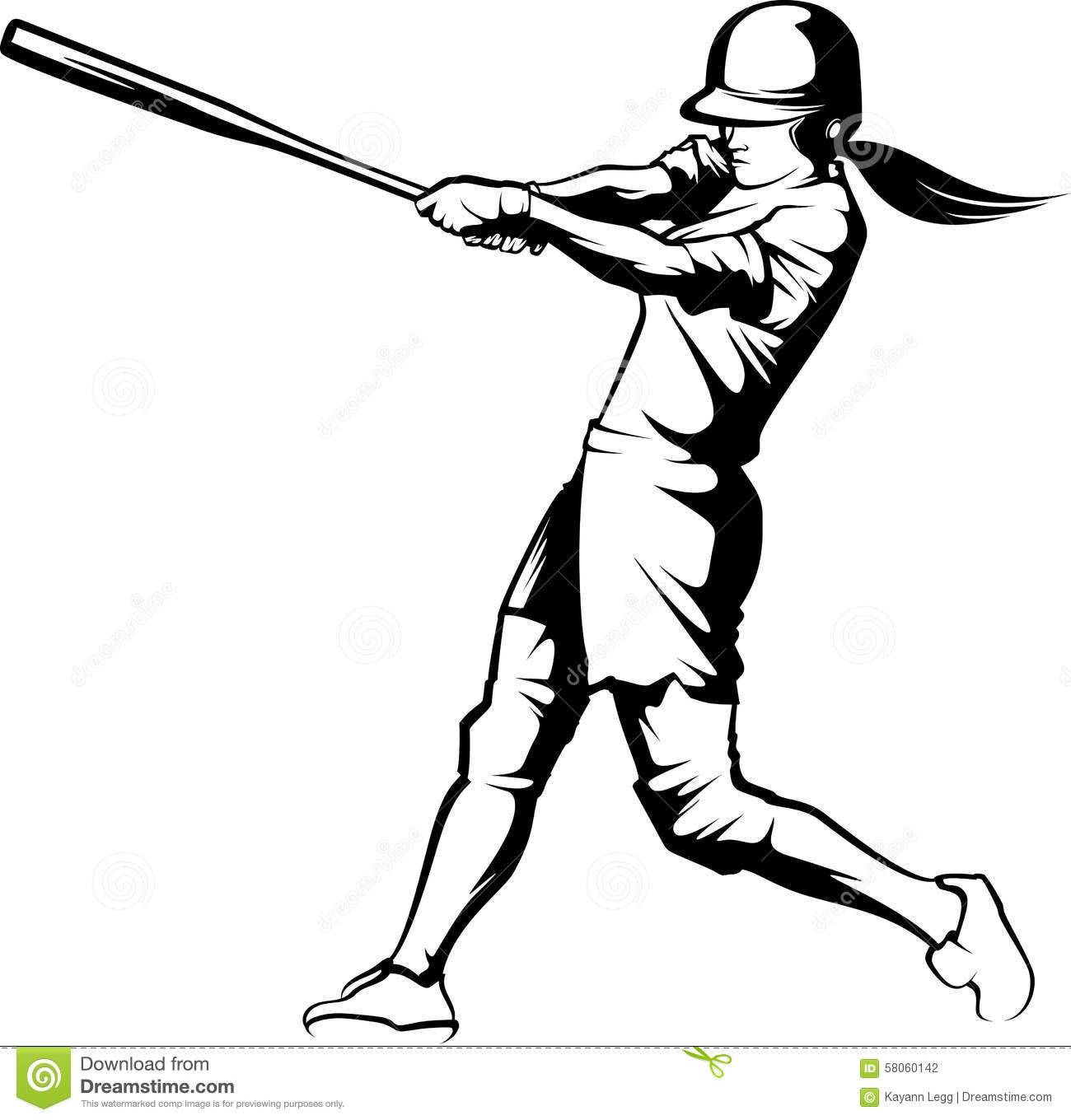 Softball Batter Stock Vector Illustration Of Healthy