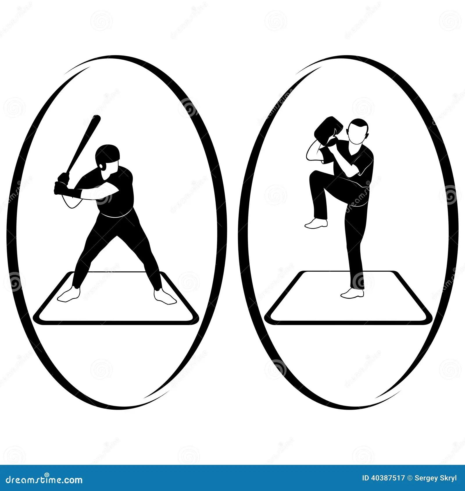 Softball Stock Vector Illustration Of Outline Shape